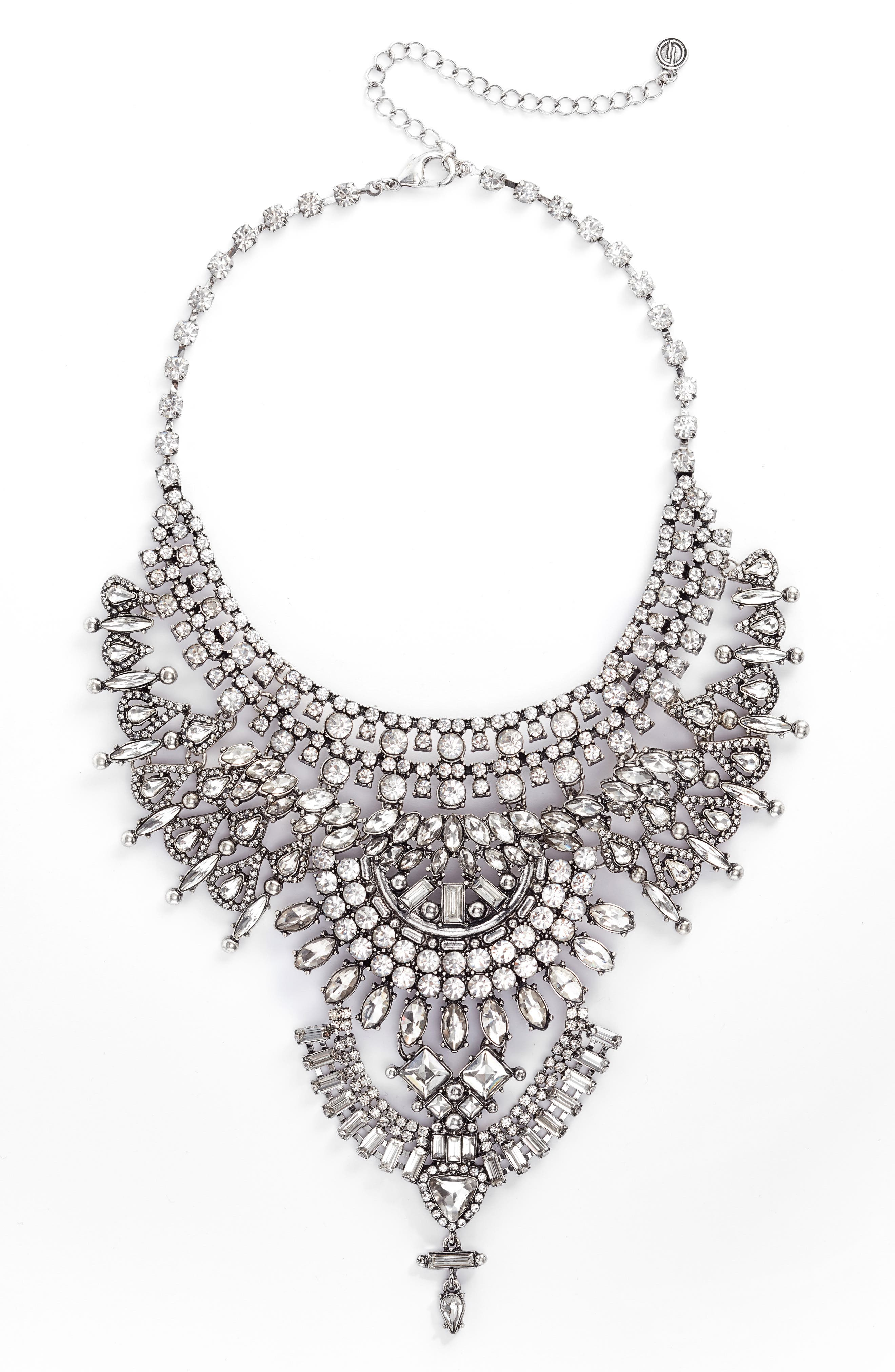 DLNLX BY DYLANLEX,                             Chain & Crystal Necklace,                             Main thumbnail 1, color,                             040
