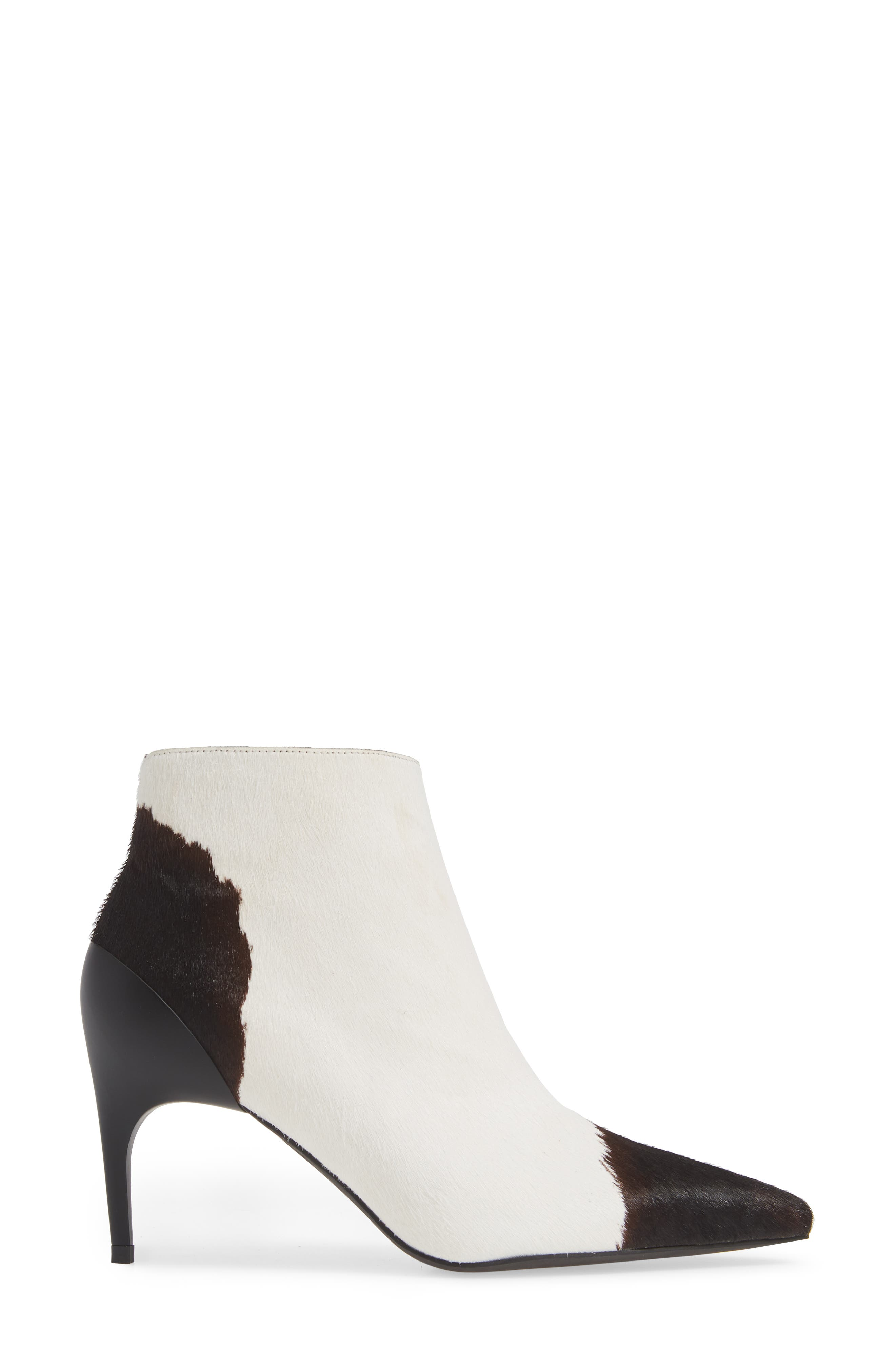 JEFFREY CAMPBELL,                             Barbell-F Genuine Calf Hair Bootie,                             Alternate thumbnail 3, color,                             001