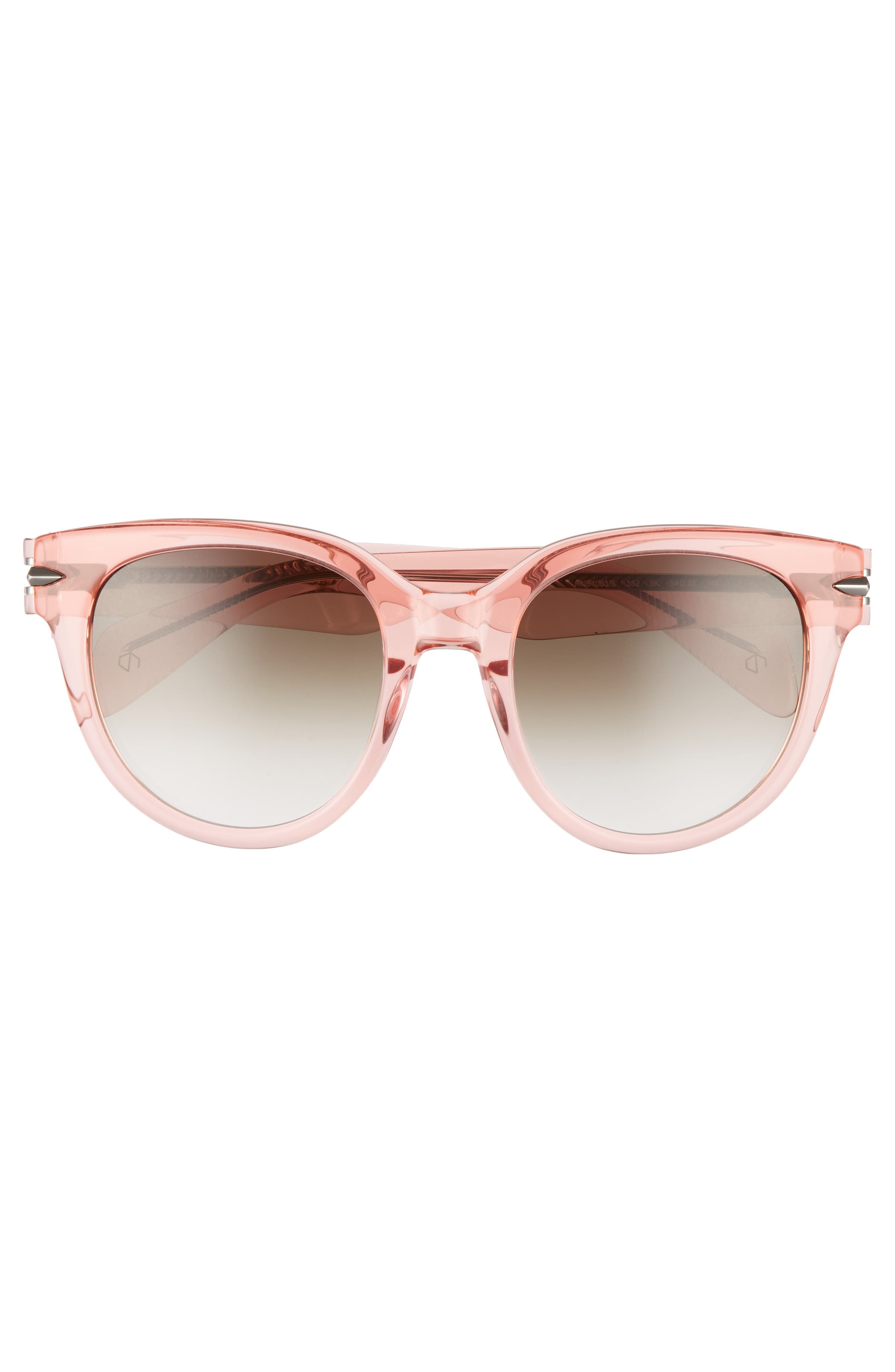 54mm Cat Eye Sunglasses,                             Alternate thumbnail 3, color,                             PINK