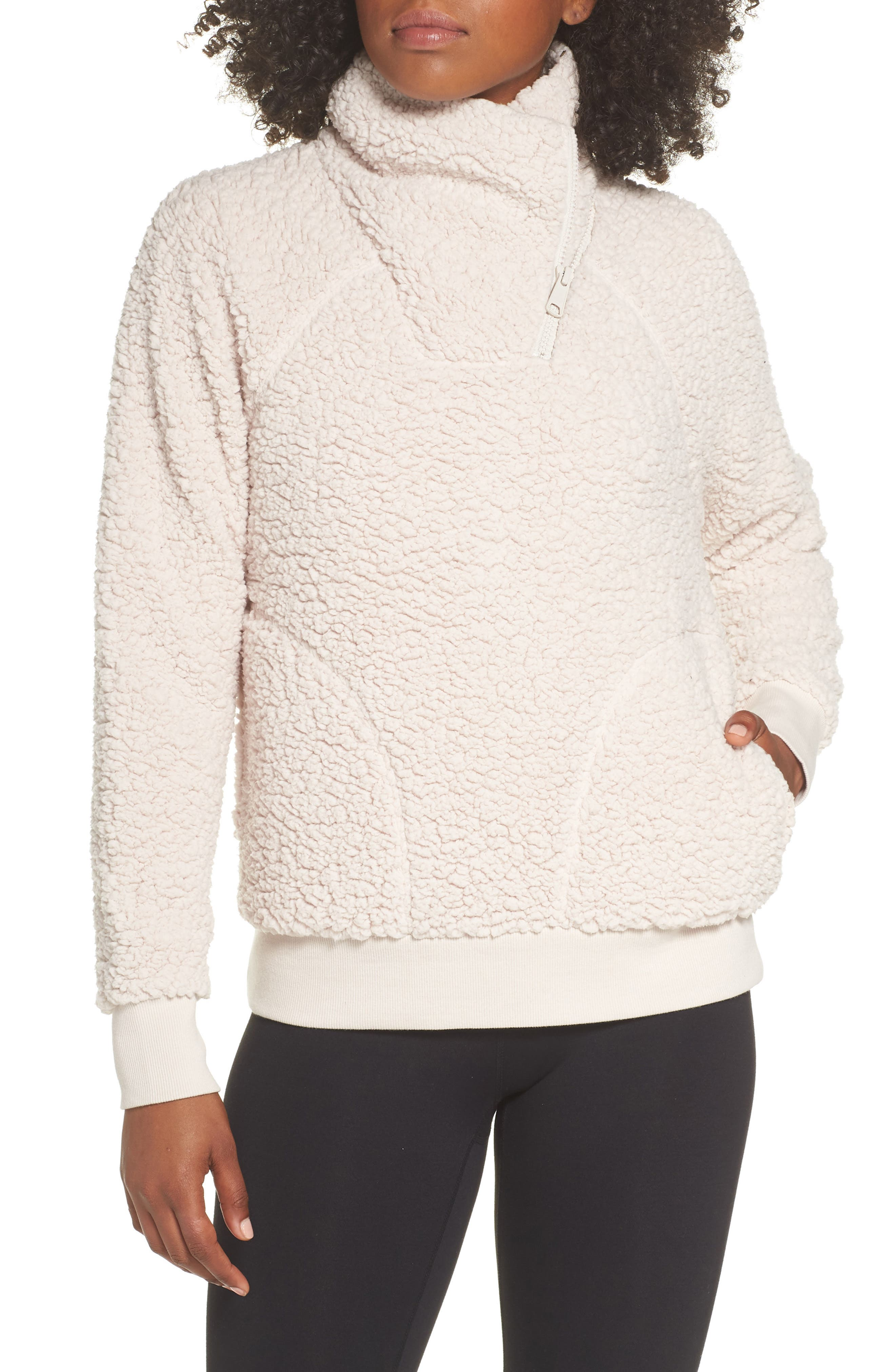 Shear Up Pullover,                         Main,                         color, GREY CRYSTAL