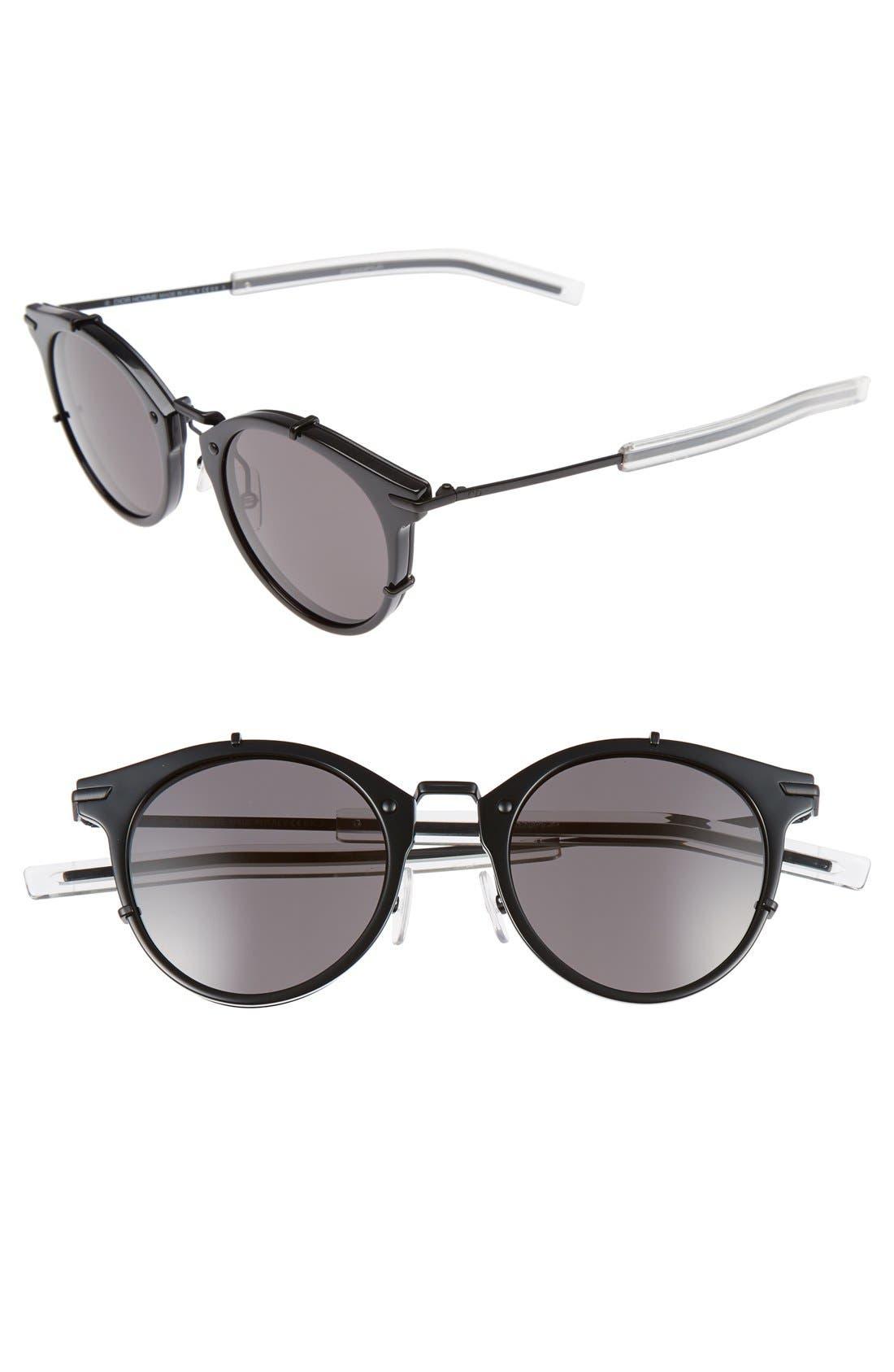 e84579c78a5 716737611982. Men s Dior Homme 48Mm Round Sunglasses - Shiny Matte Black
