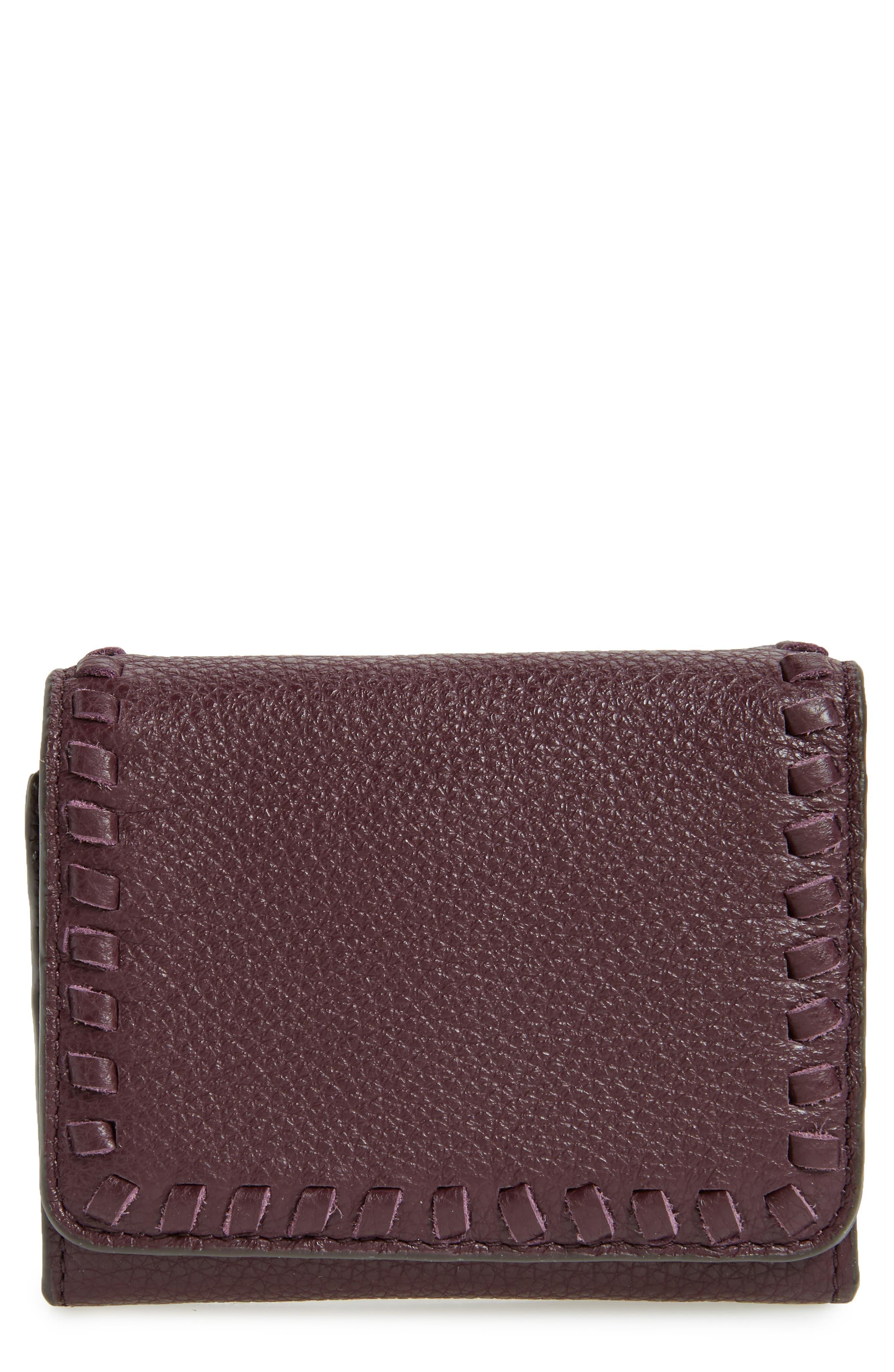 Mini Vanity Leather Wallet,                             Main thumbnail 1, color,                             610