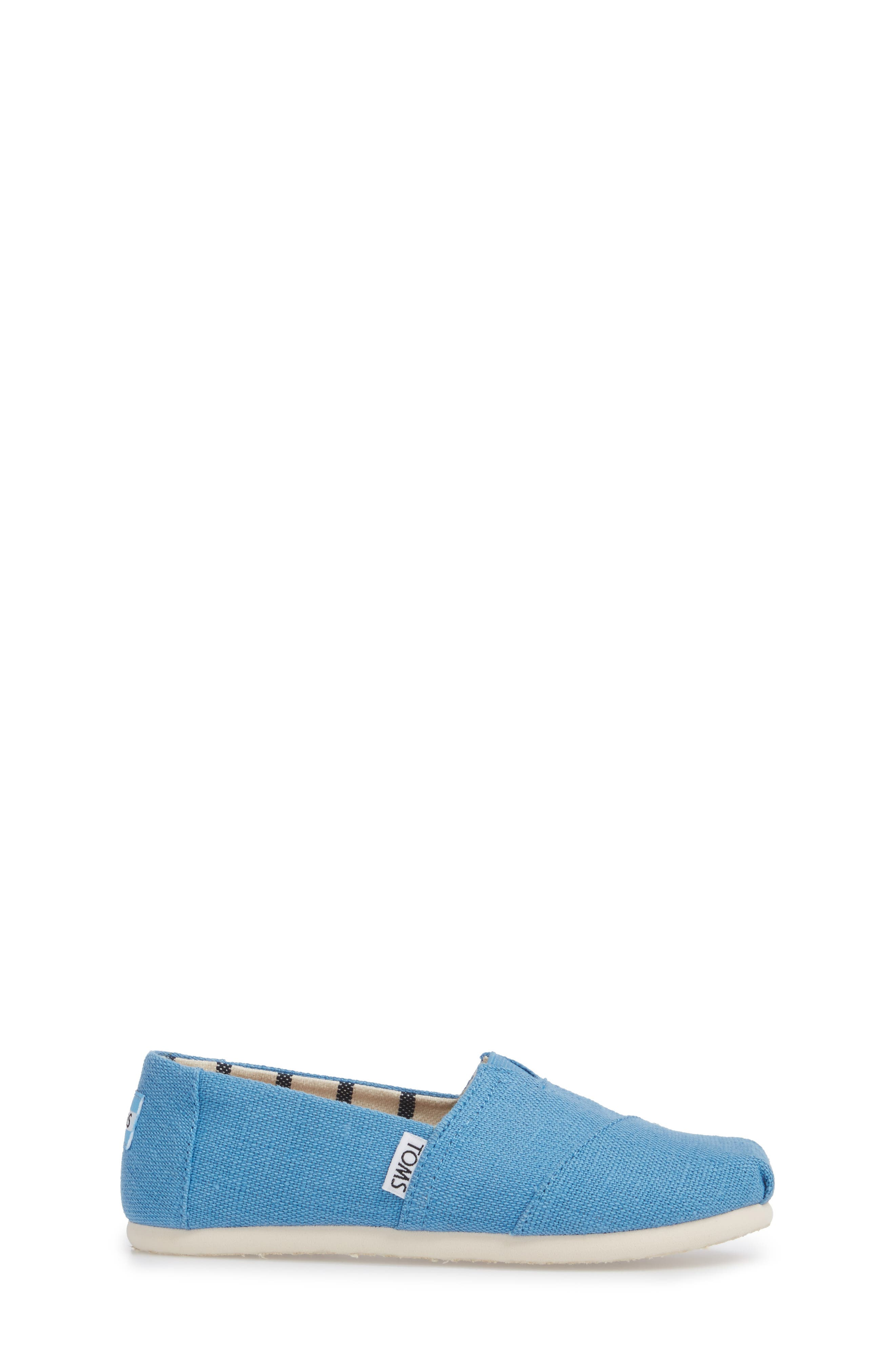 Classic Print Slip-On,                             Alternate thumbnail 3, color,                             CLEAR SKY HERITAGE CANVAS