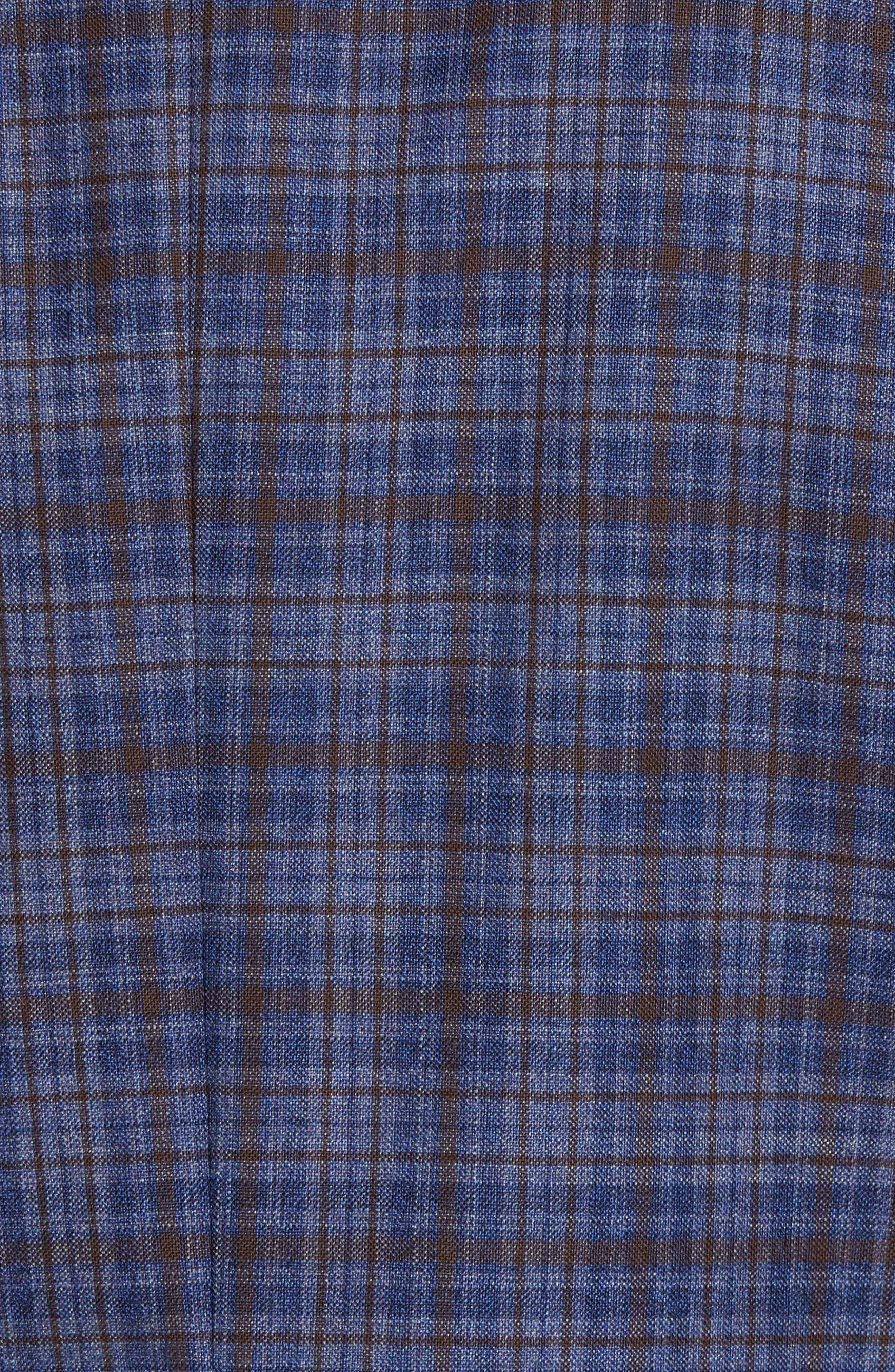 Konan Trim Fit Plaid Wool Sport Coat,                             Alternate thumbnail 6, color,