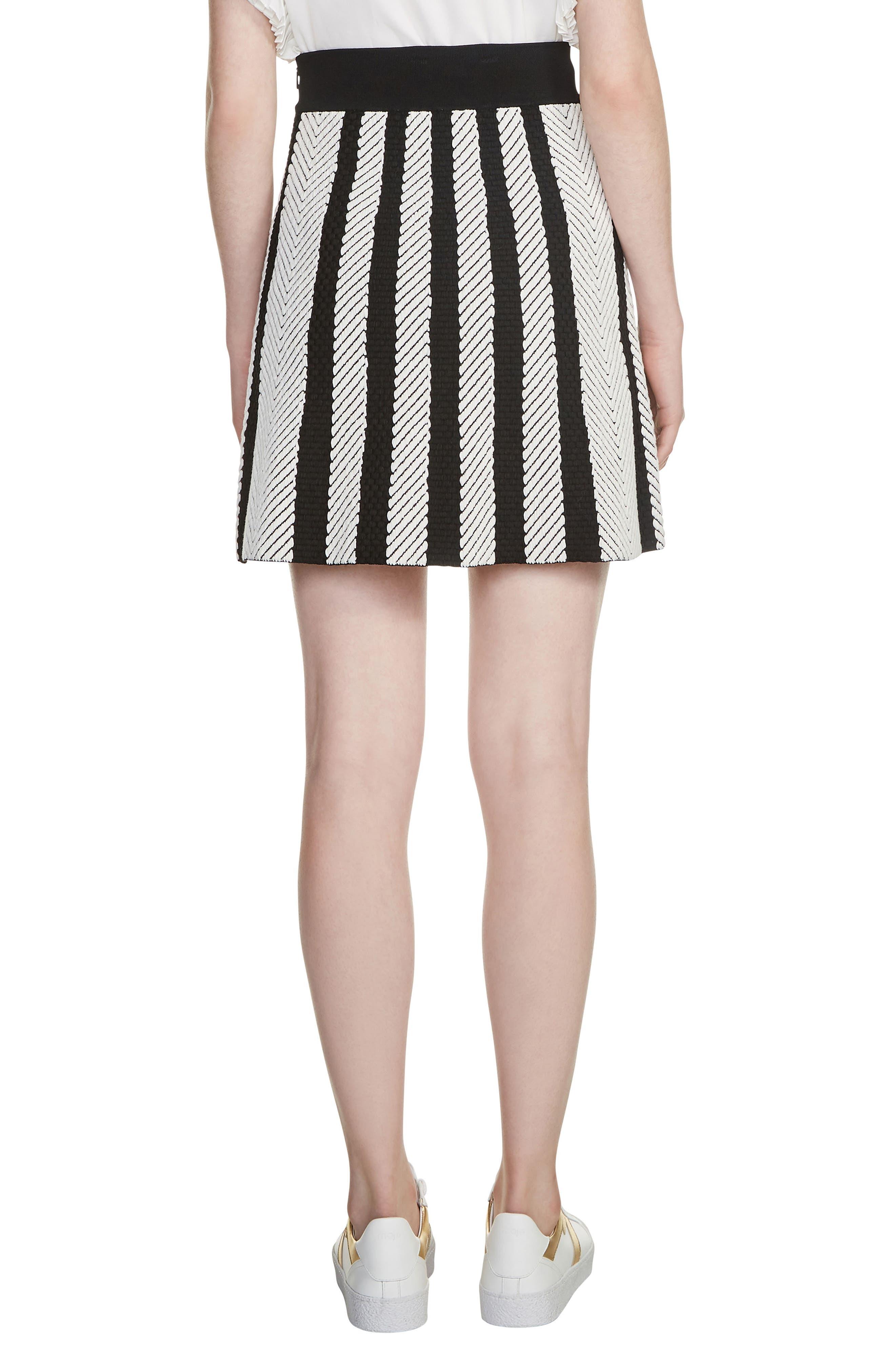 Jasper Stripe Jacquard Miniskirt,                             Alternate thumbnail 2, color,                             001