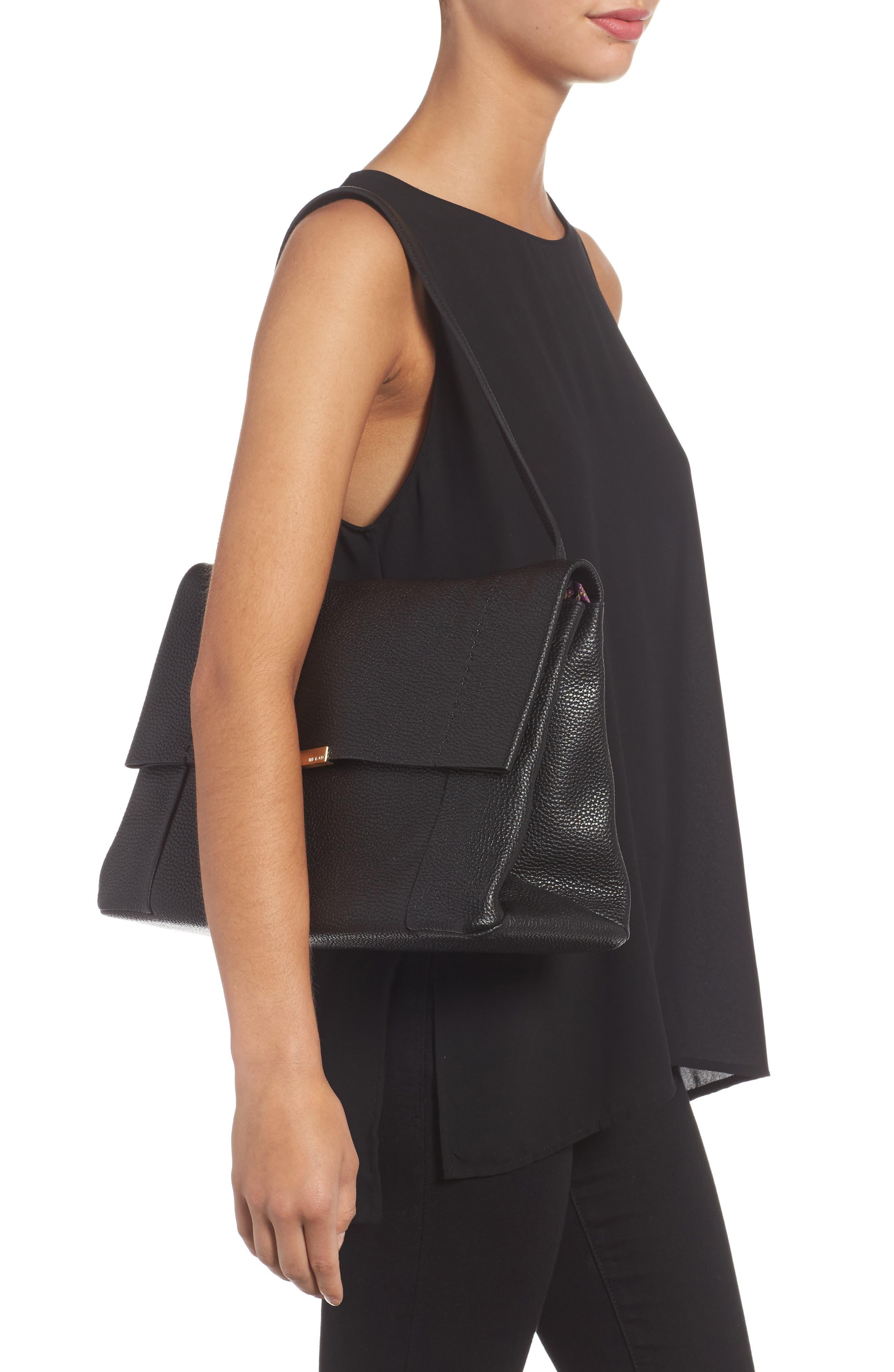 Proter Leather Shoulder Bag,                             Alternate thumbnail 2, color,                             001