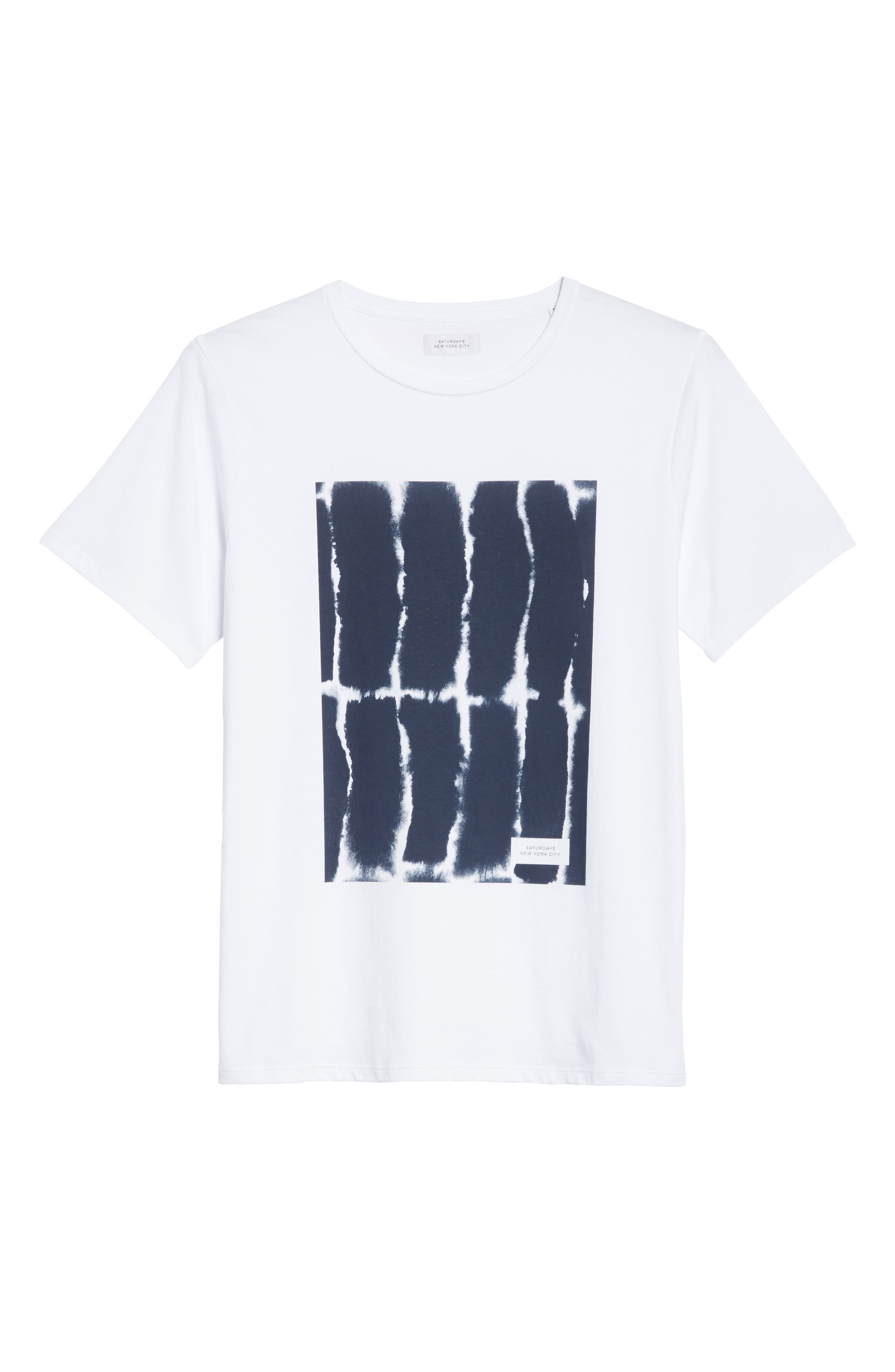 SATURDAYS NYC,                             Water Stack Graphic T-Shirt,                             Alternate thumbnail 6, color,                             110
