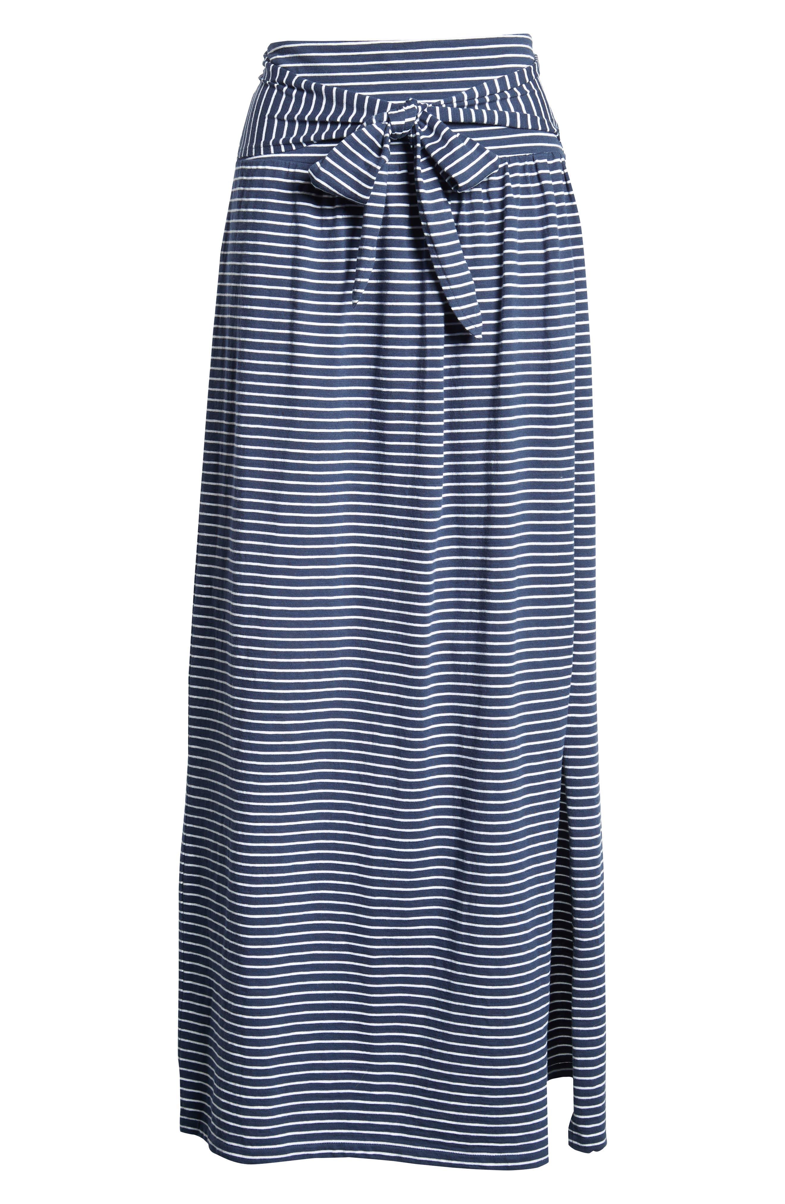 Tie Front Cotton Maxi Skirt,                             Alternate thumbnail 28, color,