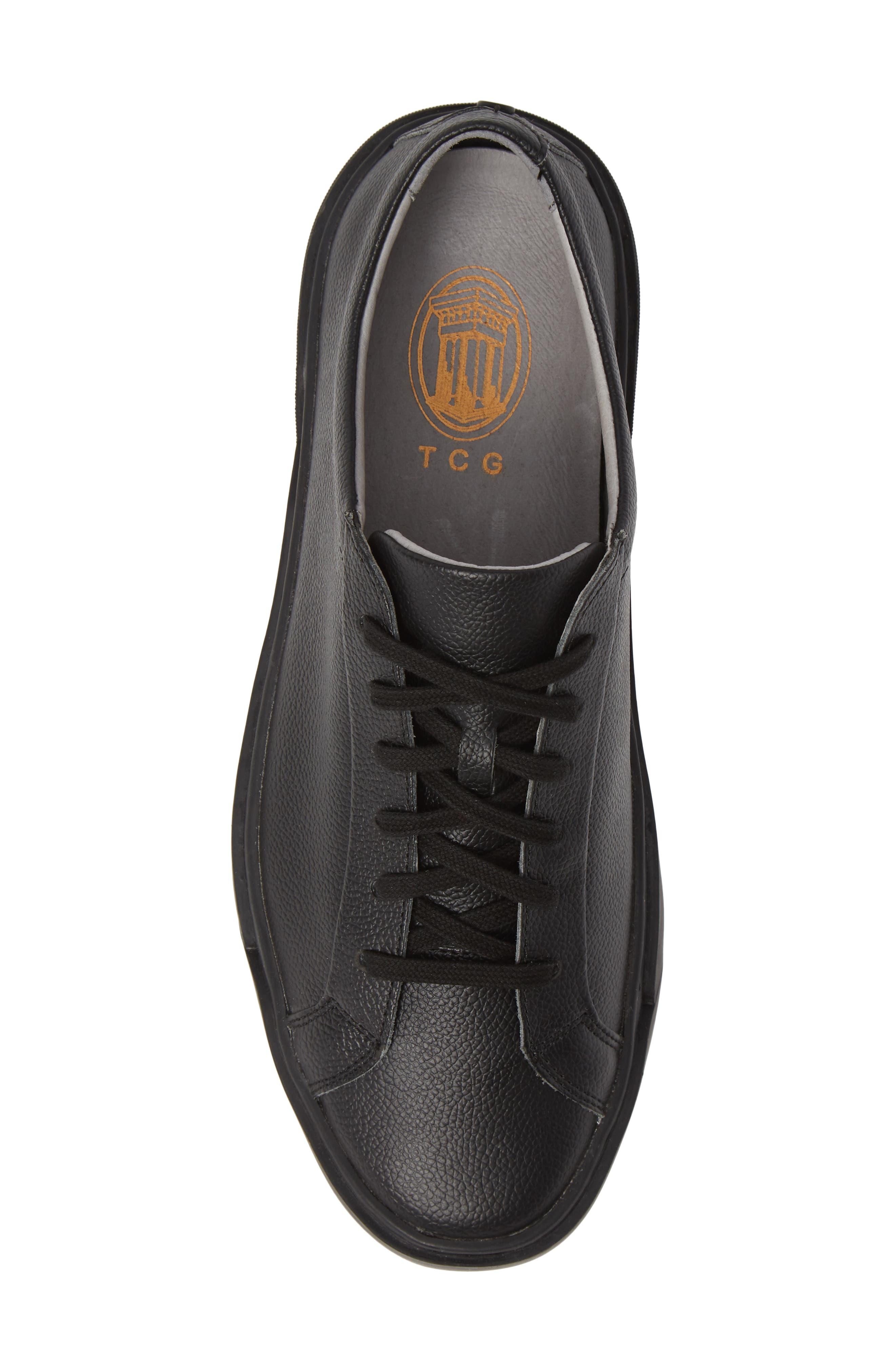 Ken Sneaker,                             Alternate thumbnail 5, color,                             TRIPLE BLACK LEATHER