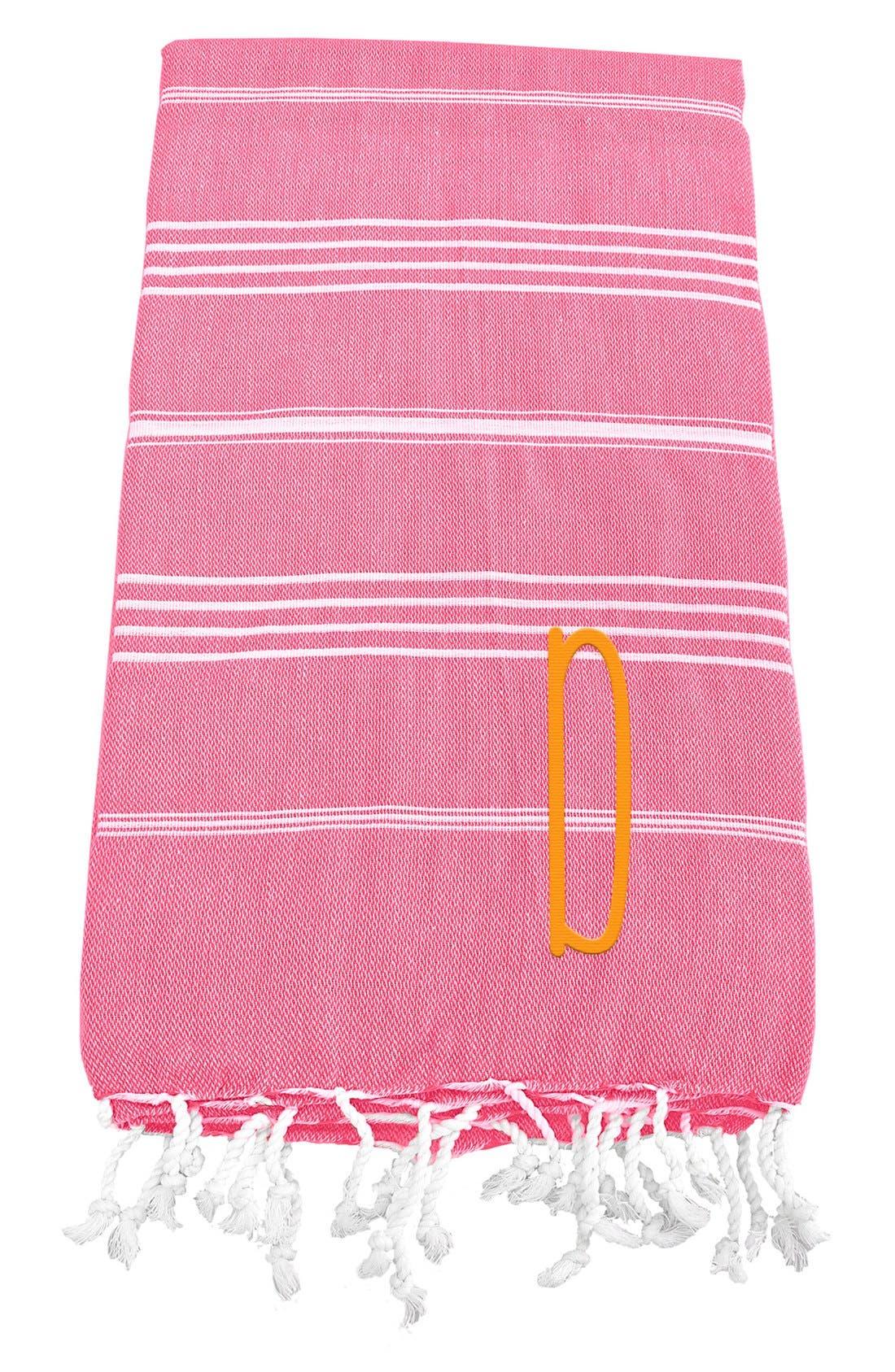 Monogram Turkish Cotton Towel,                             Main thumbnail 140, color,