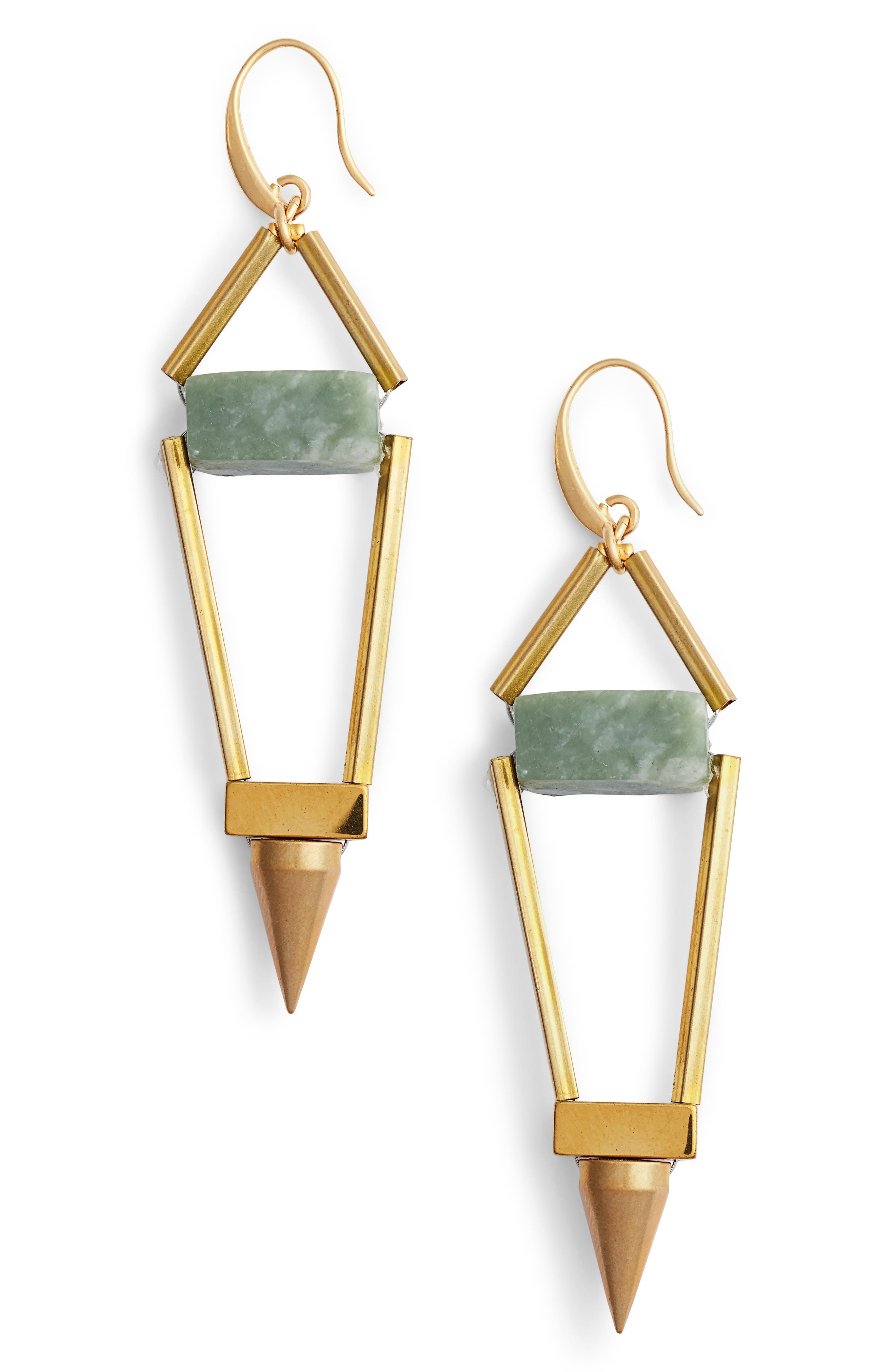 Odele Spike Drop Earrings,                             Main thumbnail 1, color,