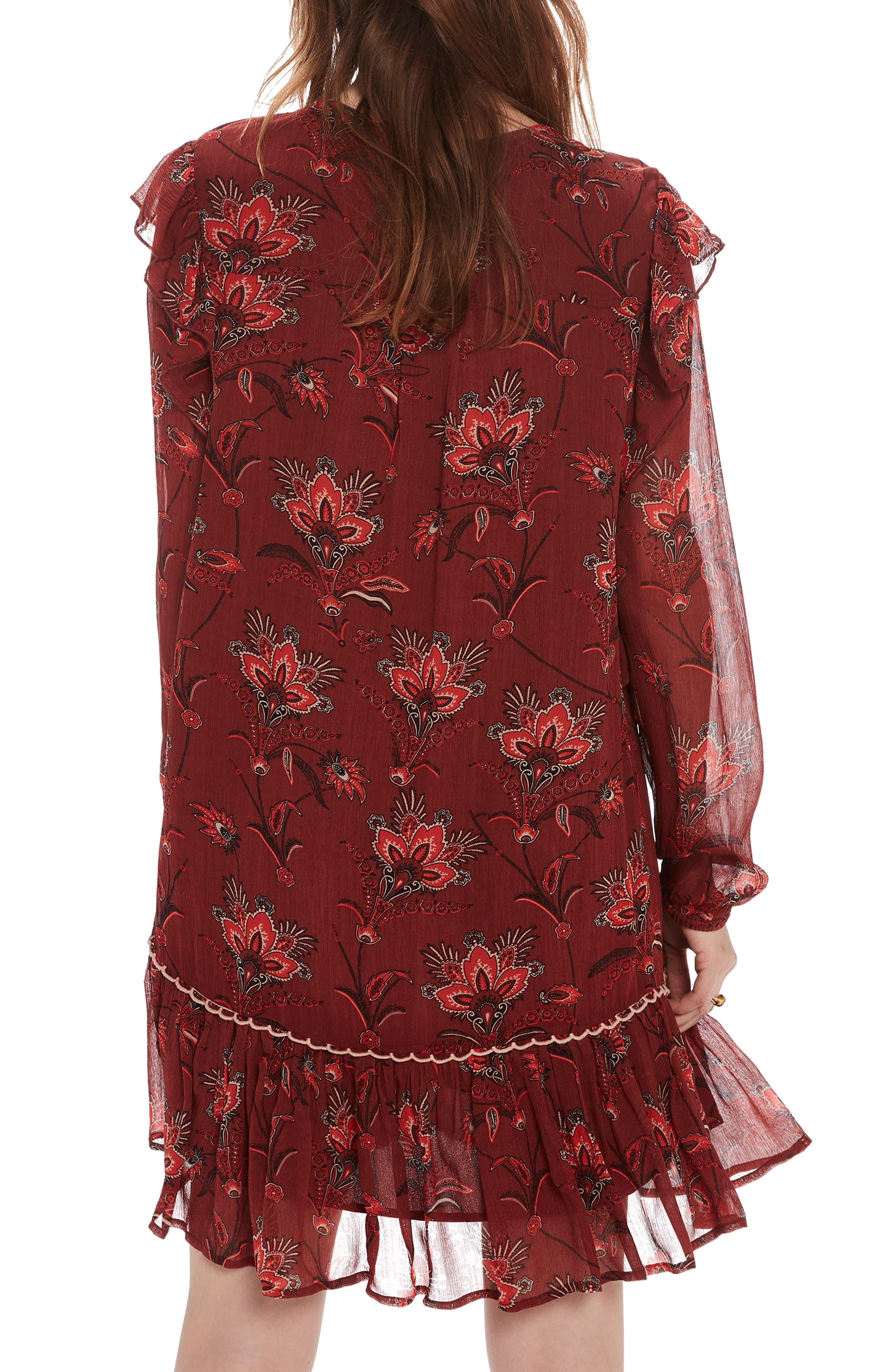 SCOTCH & SODA,                             Print Drop Hem Dress,                             Alternate thumbnail 2, color,                             931