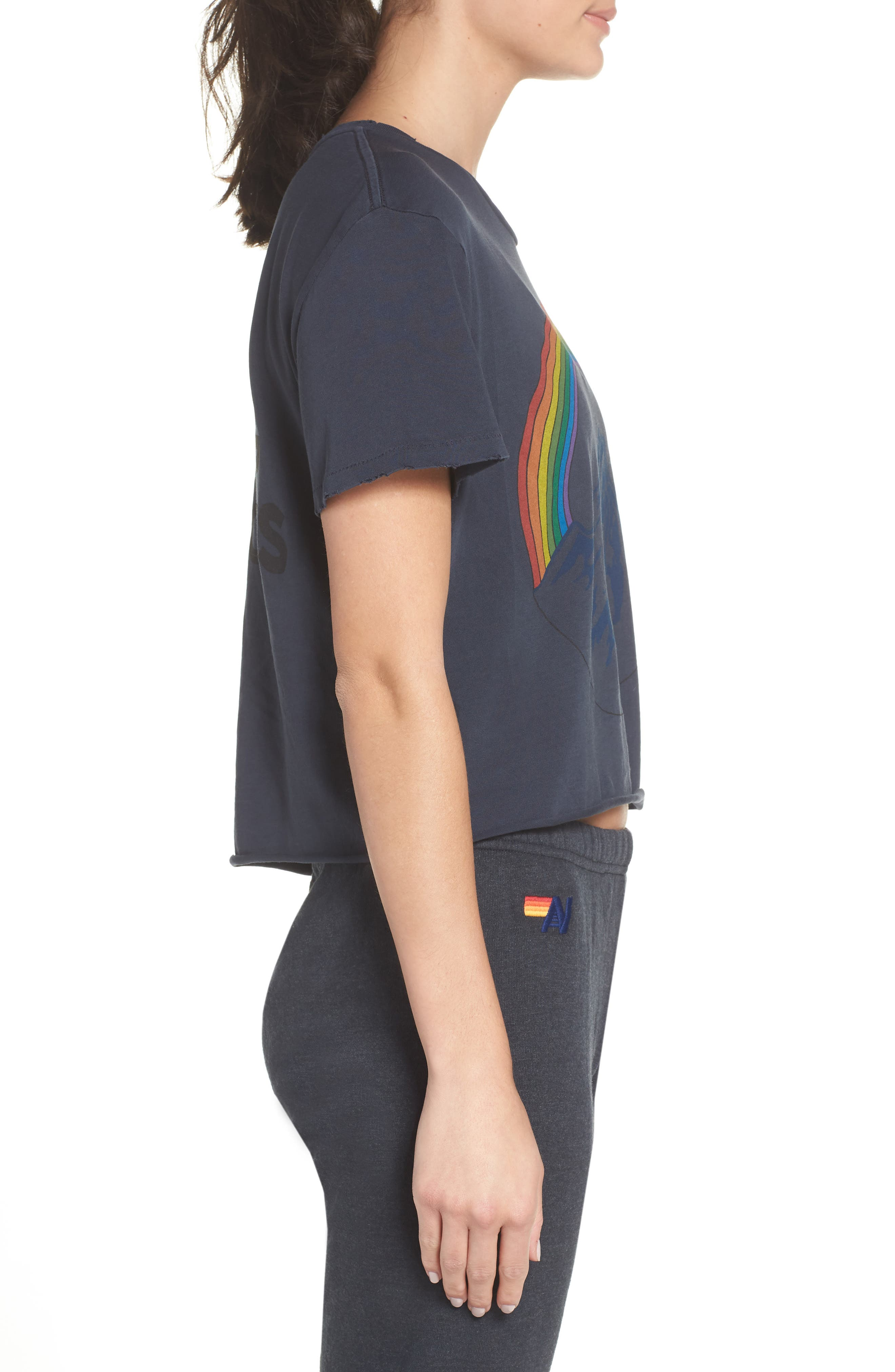 Mountain Rainbow Tee,                             Alternate thumbnail 3, color,                             CHARCOAL