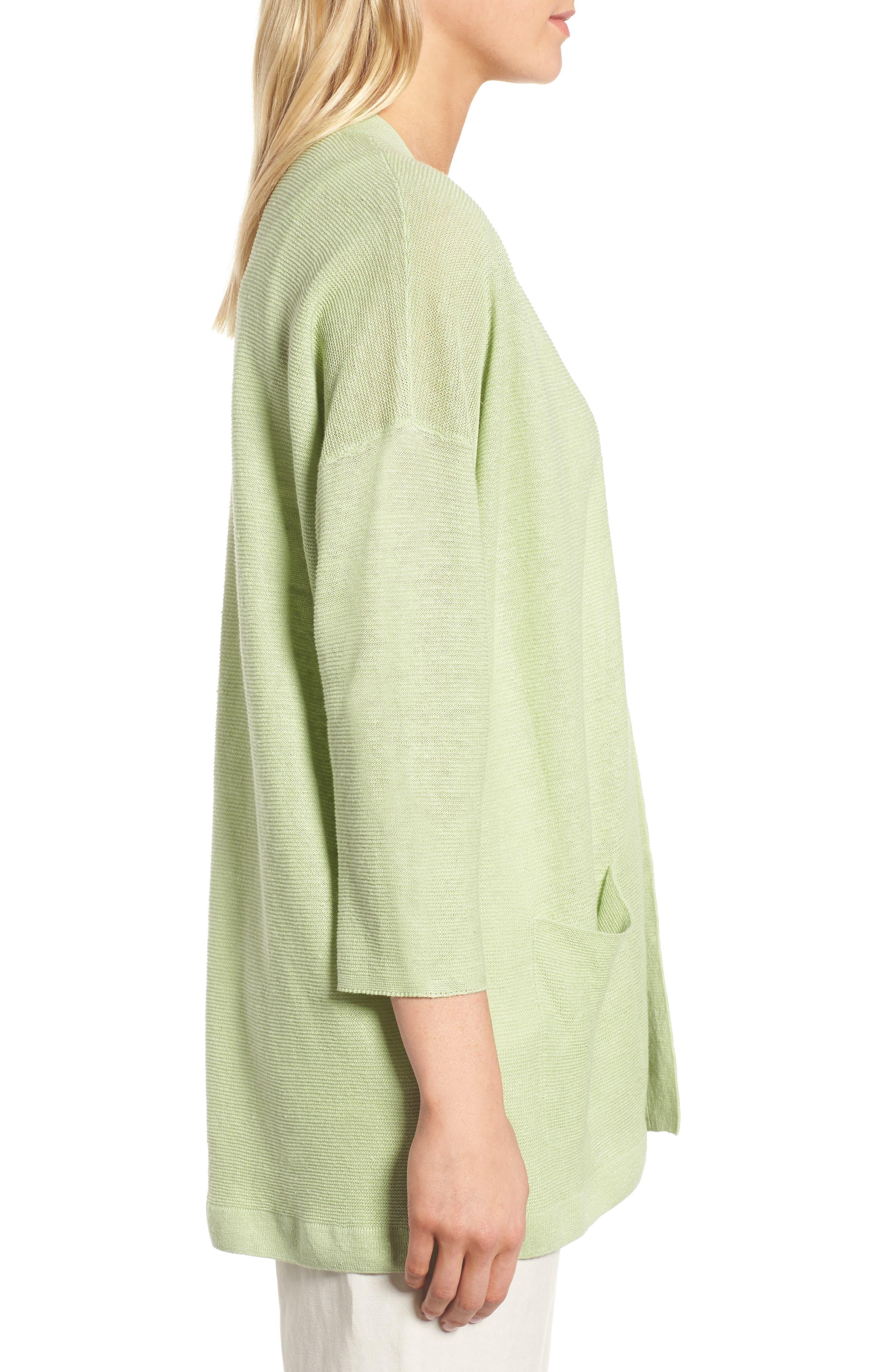 Boxy Organic Linen Cardigan,                             Alternate thumbnail 13, color,