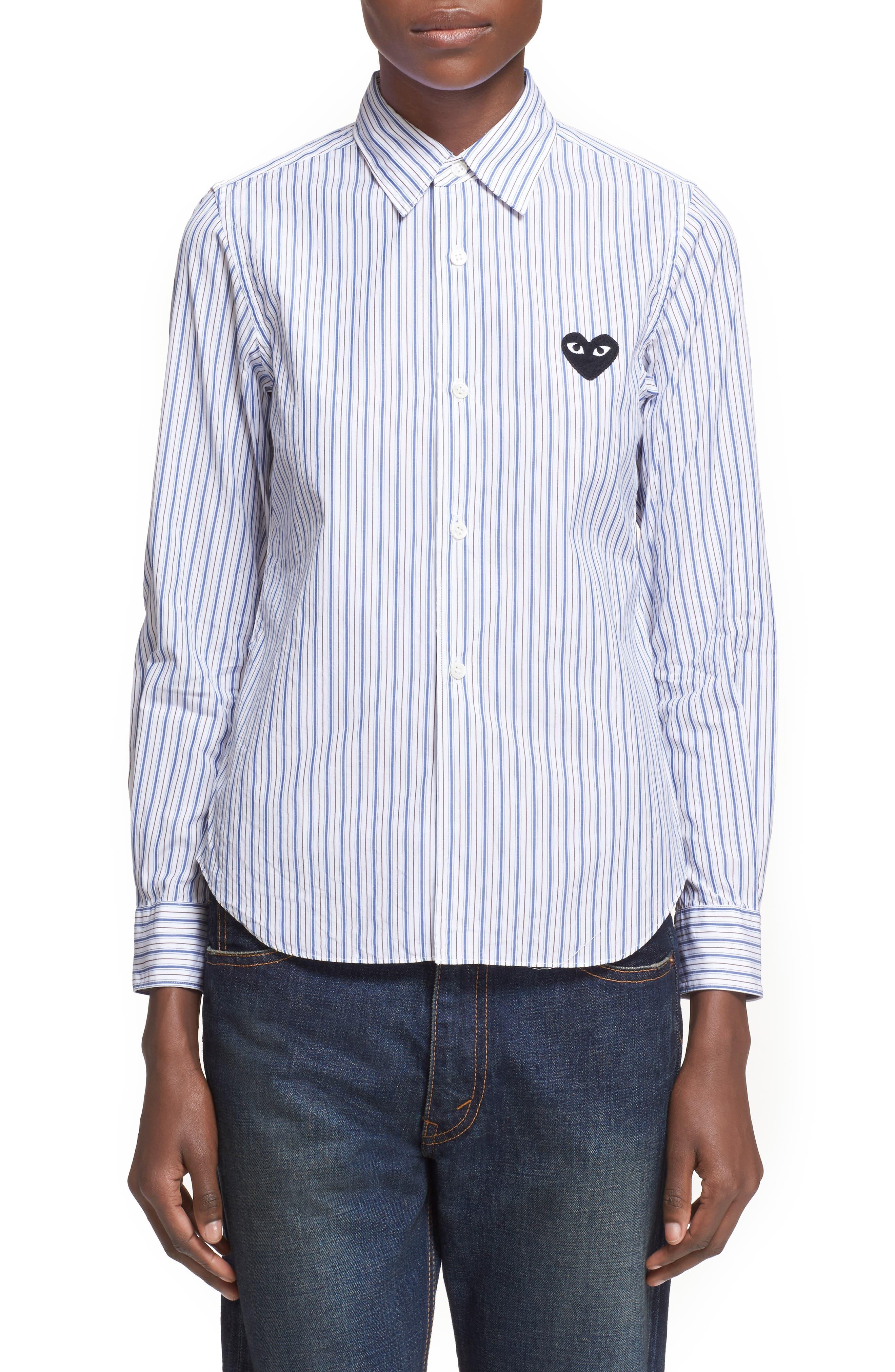 Stripe Shirt,                             Alternate thumbnail 7, color,                             BLUE