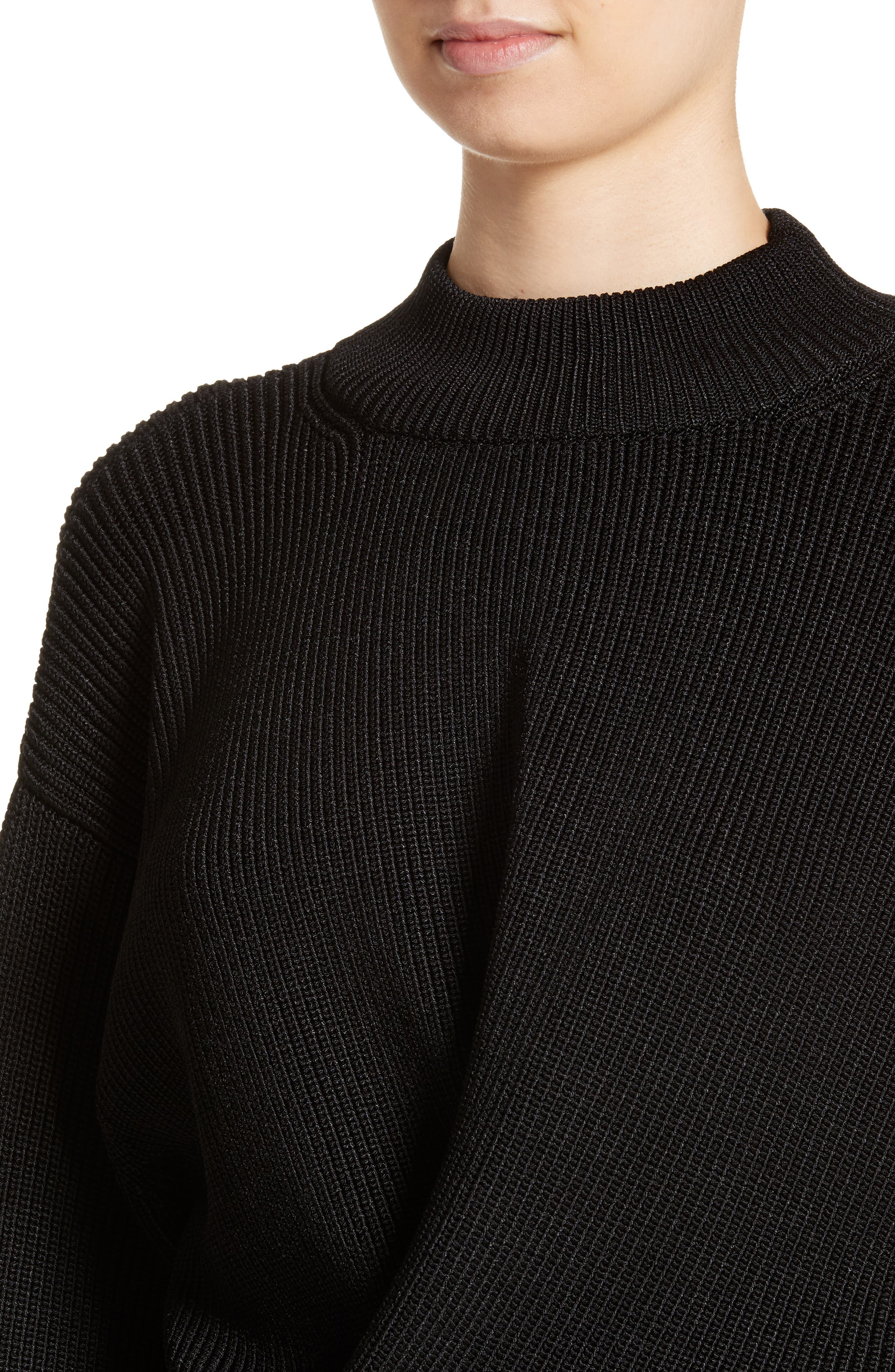 Mock Neck Sweater,                             Alternate thumbnail 4, color,                             001