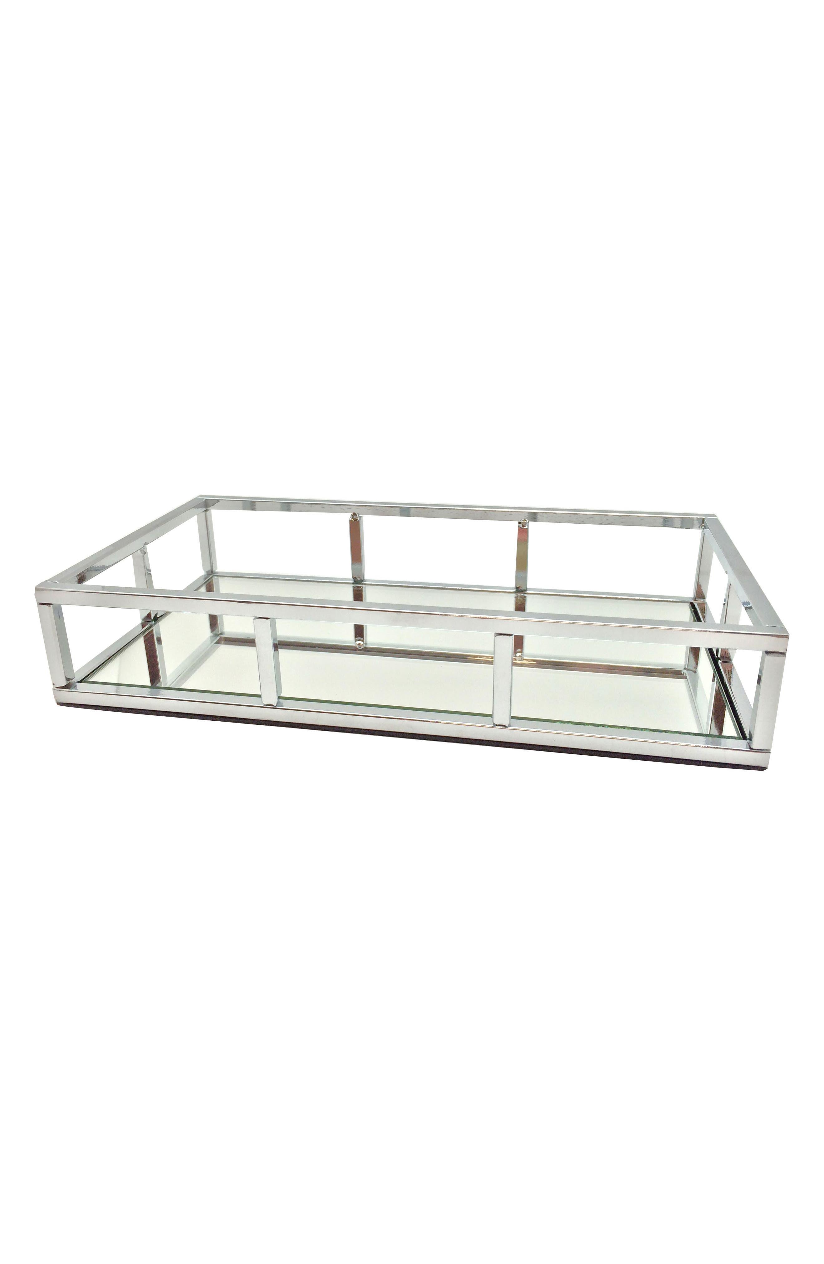 Chrome Mirror Tray,                         Main,                         color, 000