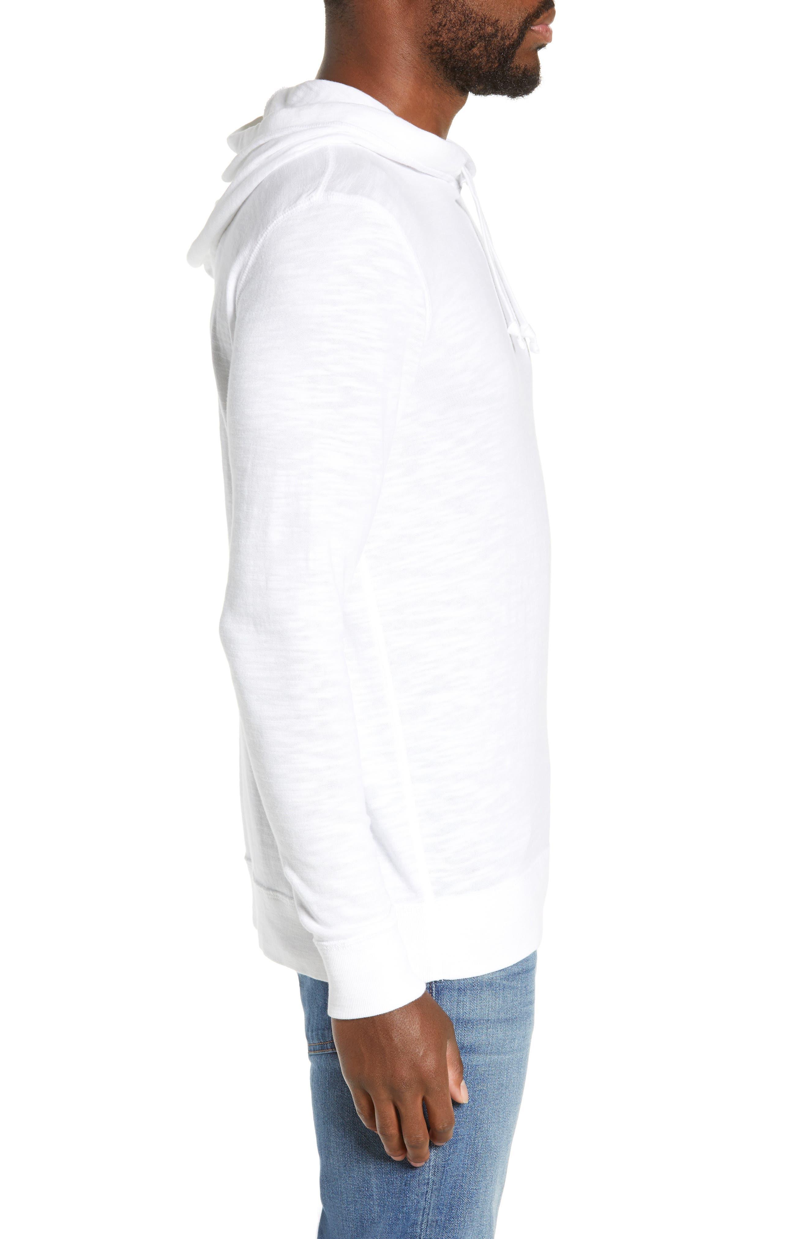 Slubbed Cotton Hooded Pullover,                             Alternate thumbnail 4, color,                             WHITE