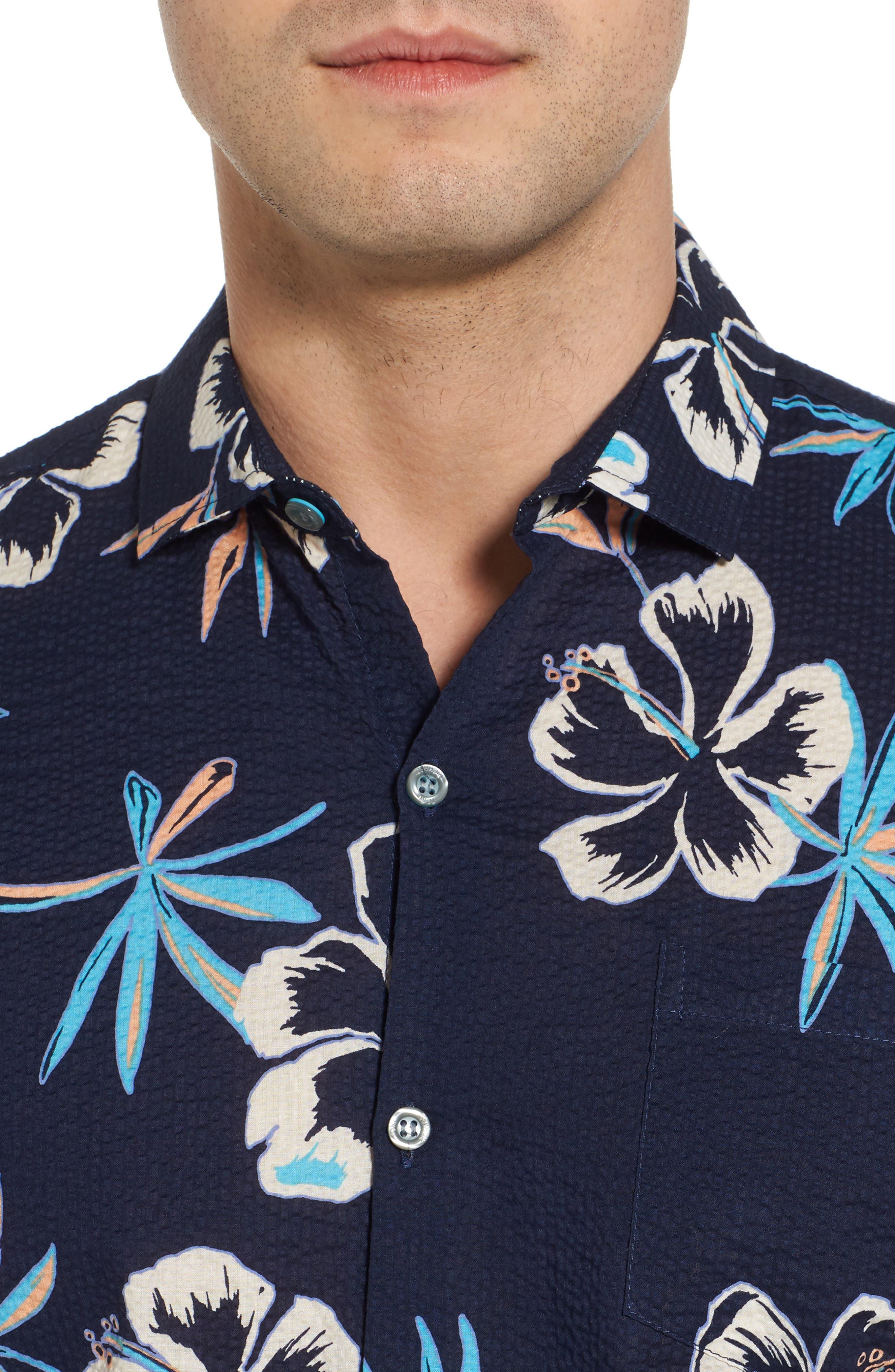 So Fresh Trim Fit Cotton Lawn Sport Shirt,                             Alternate thumbnail 4, color,                             415