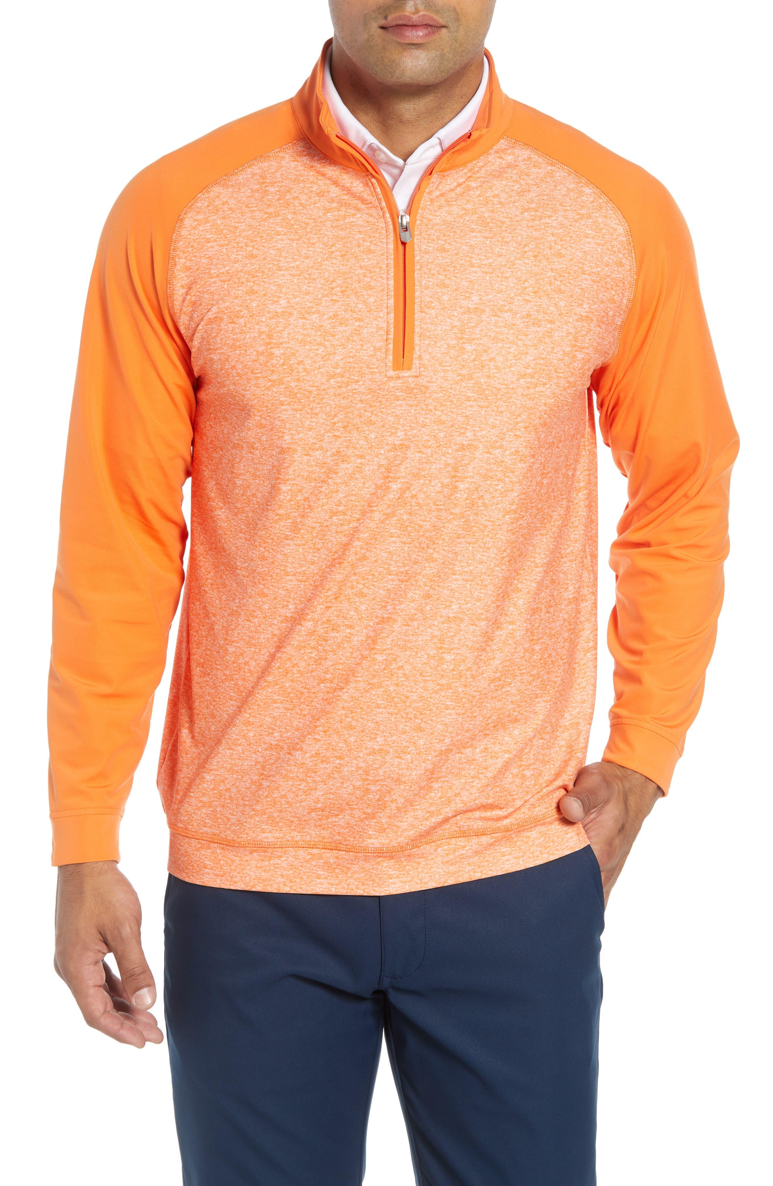 BOBBY JONES Rule 18 Tech Raglan Pullover in Orange