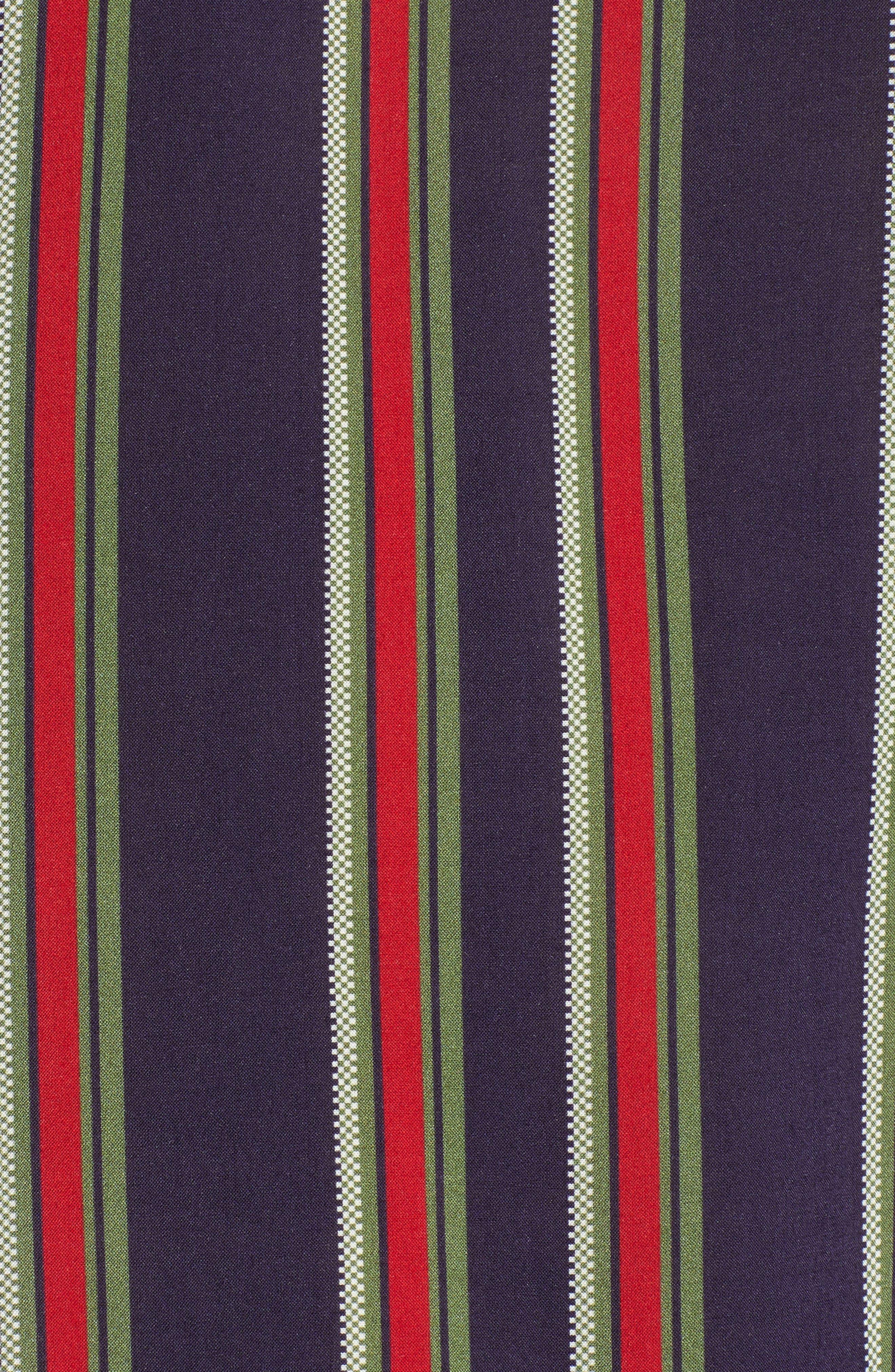 VELVET BY GRAHAM & SPENCER,                             School Stripe Tie Sleeve Top,                             Alternate thumbnail 5, color,                             438