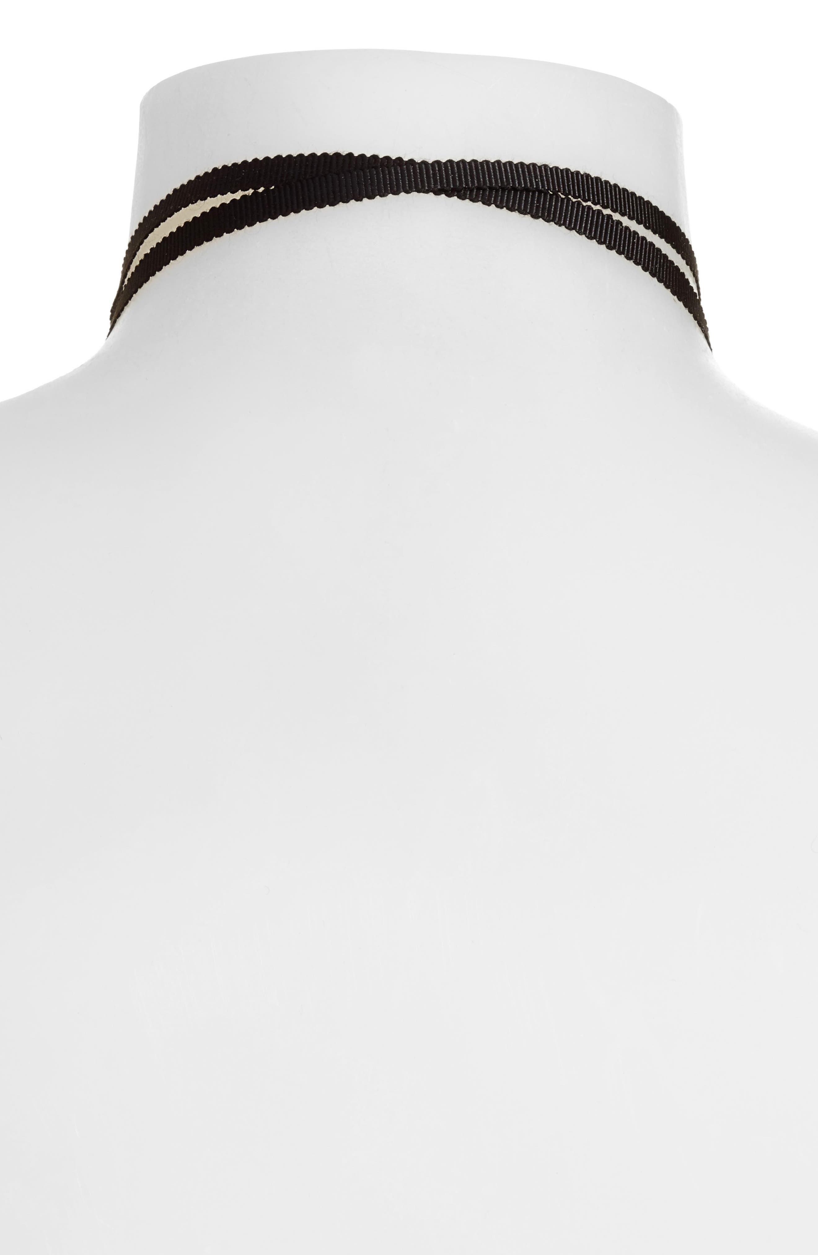 Tie Choker Necklace,                             Alternate thumbnail 6, color,
