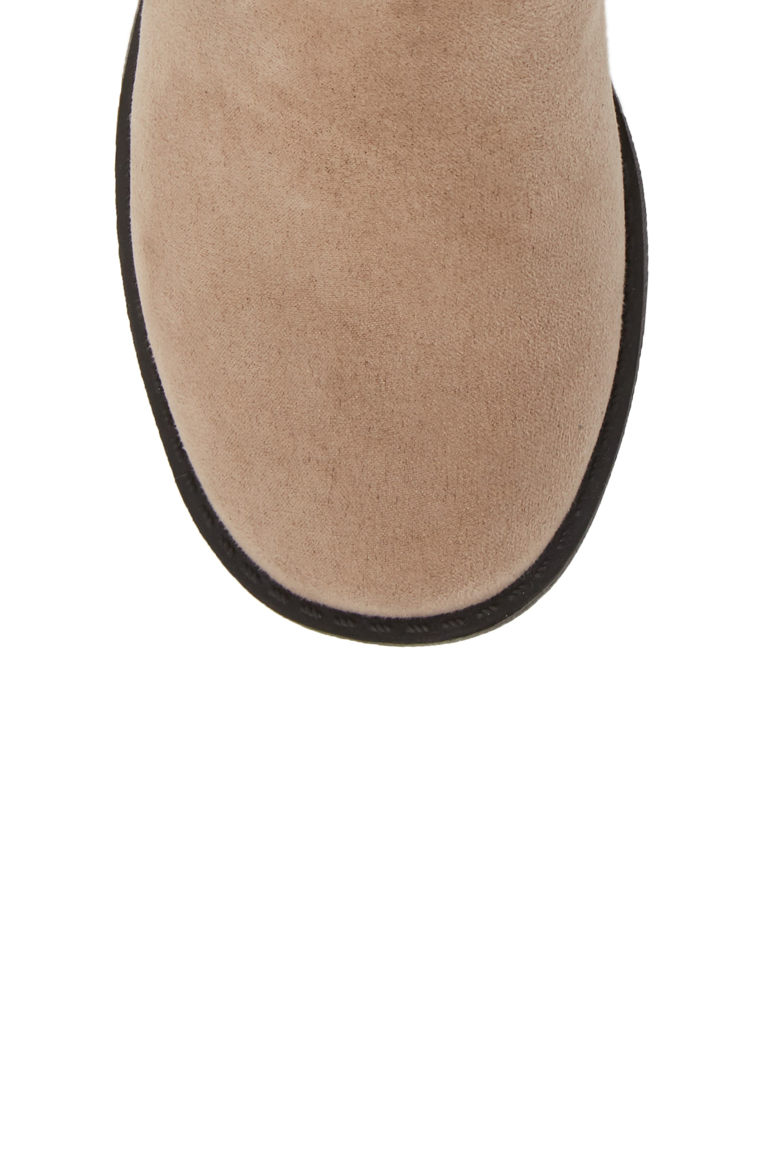 Glittery Kennedy Tie Bootie,                             Alternate thumbnail 5, color,                             TAUPE