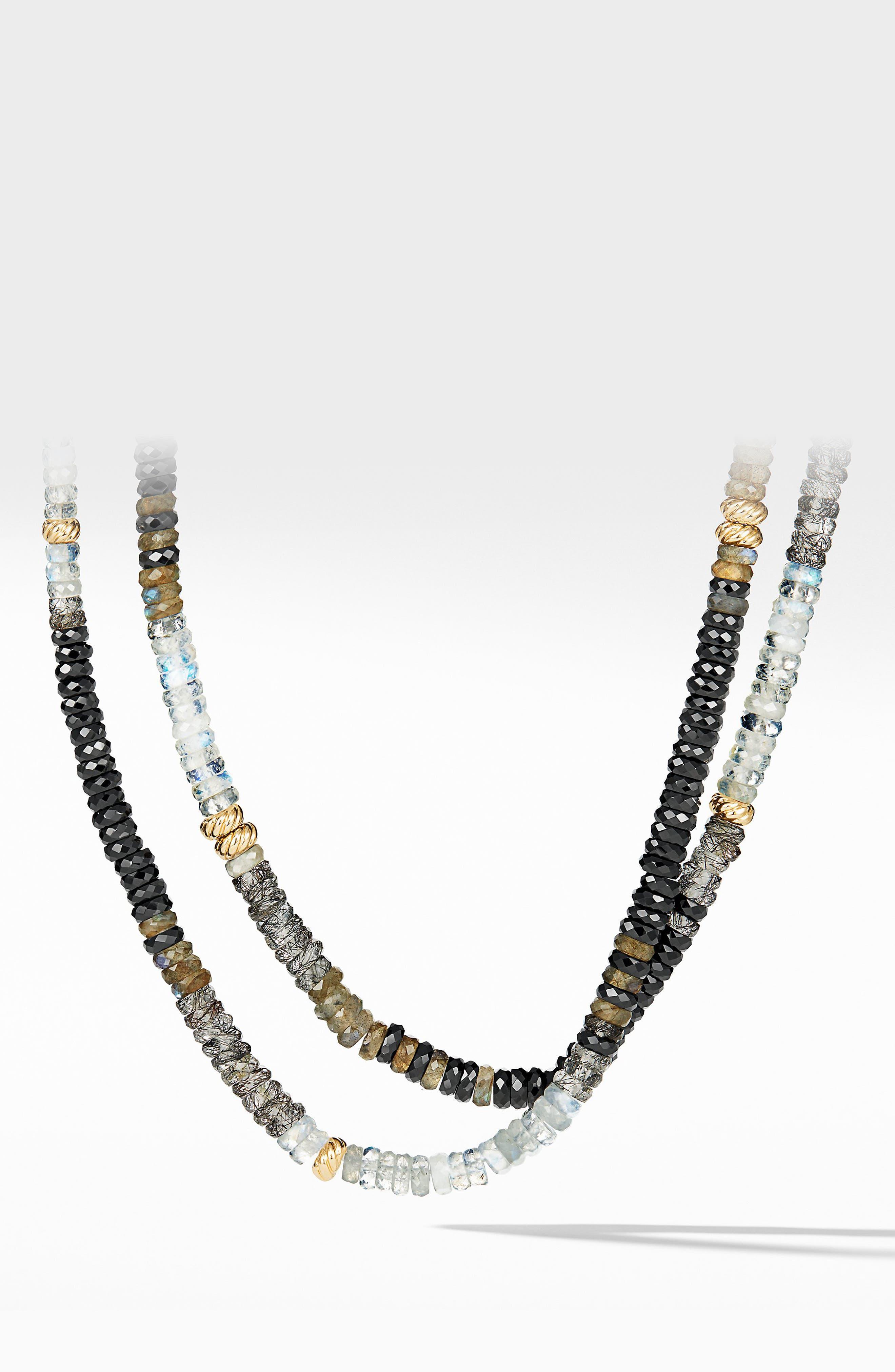 Tweejoux Necklace in 18K Gold,                             Main thumbnail 1, color,                             TOURMILATED QUARTZ