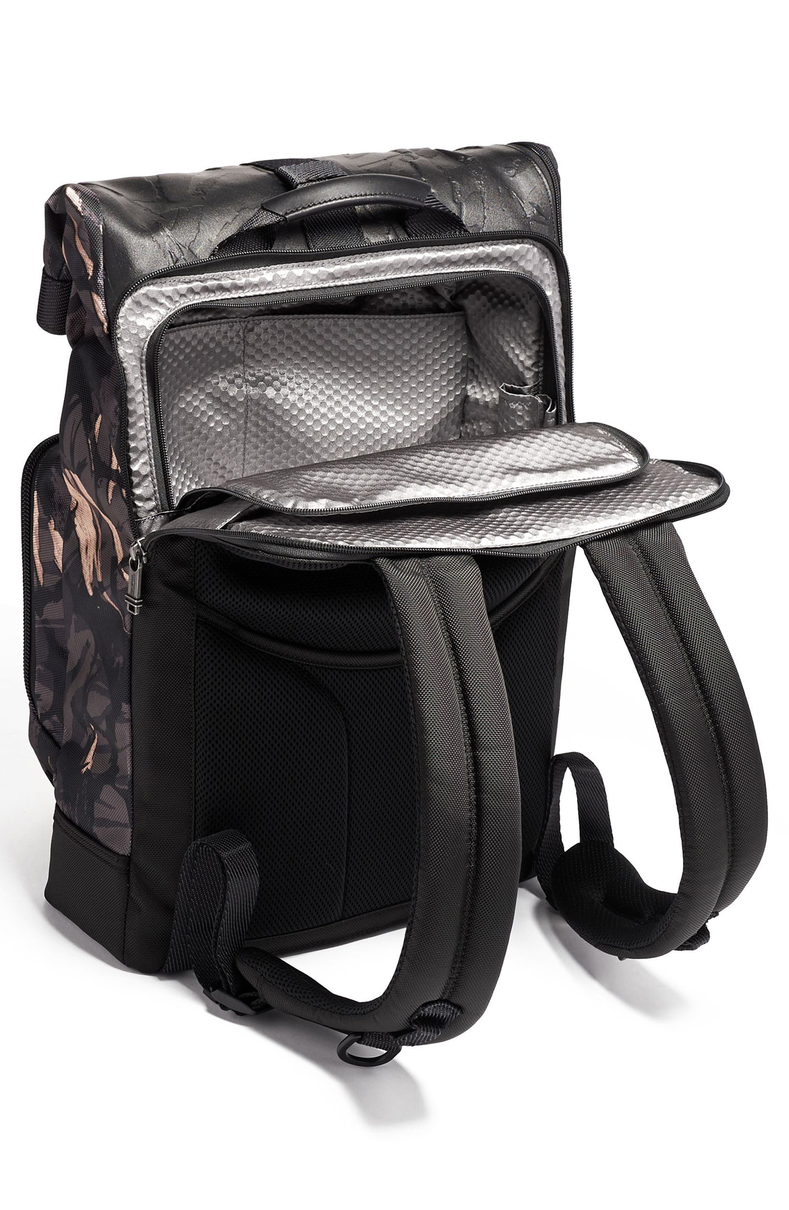 TUMI,                             Alpha Bravo London Backpack,                             Alternate thumbnail 2, color,                             GREY HIGHLANDS PRINT