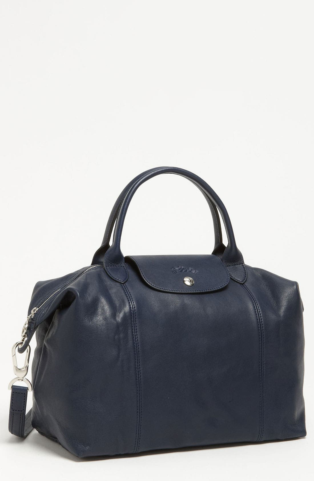 Medium 'Le Pliage Cuir' Leather Top Handle Tote,                             Main thumbnail 18, color,