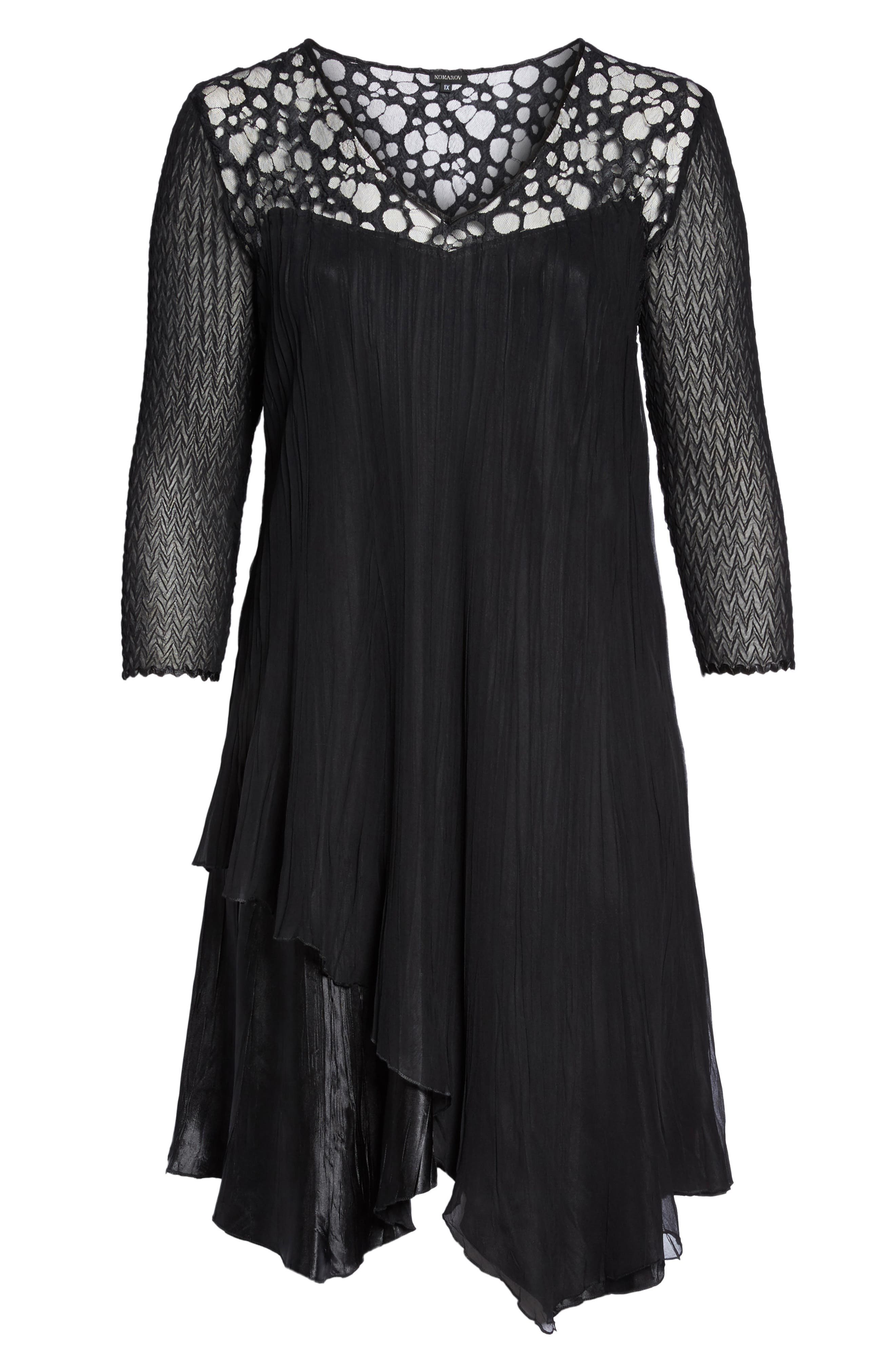 Circle Lace Dress,                             Alternate thumbnail 6, color,