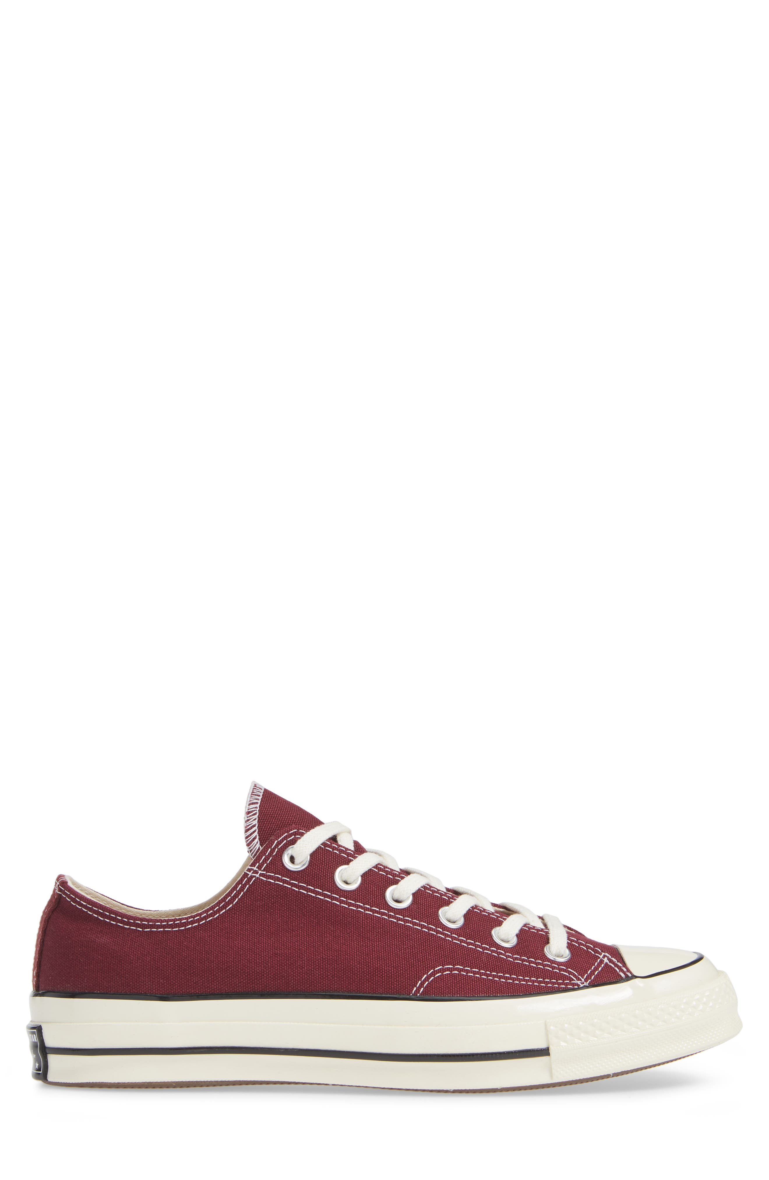 Chuck Taylor<sup>®</sup> All Star<sup>®</sup> 70 Low Top Sneaker,                             Alternate thumbnail 3, color,                             BURGUNDY