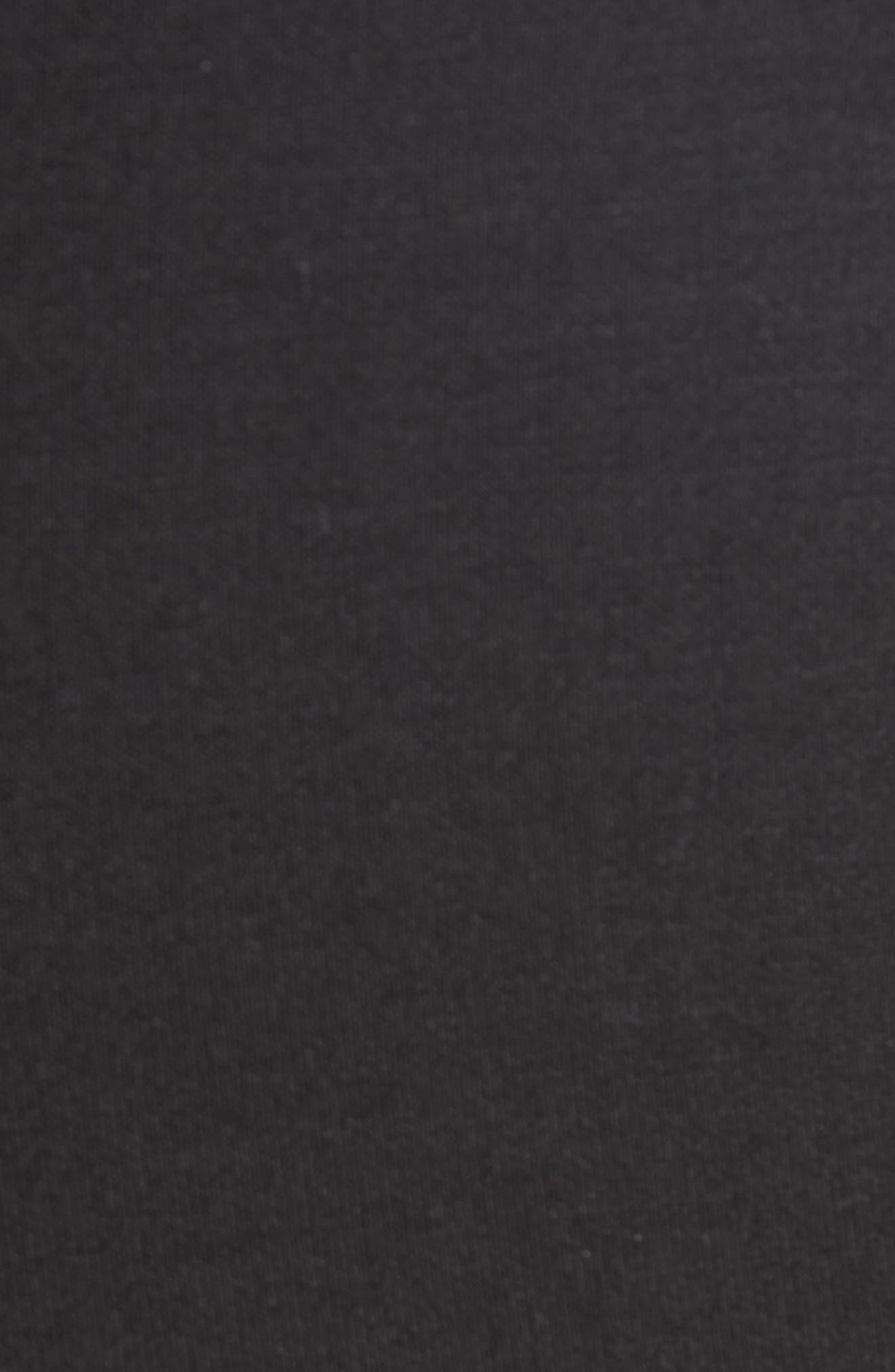 Ruffle Bell Bottom Neoprene Pants,                             Alternate thumbnail 5, color,                             BLACK