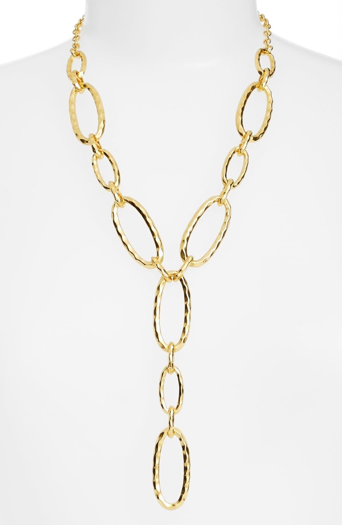 Link Y-Necklace,                         Main,                         color, GOLD