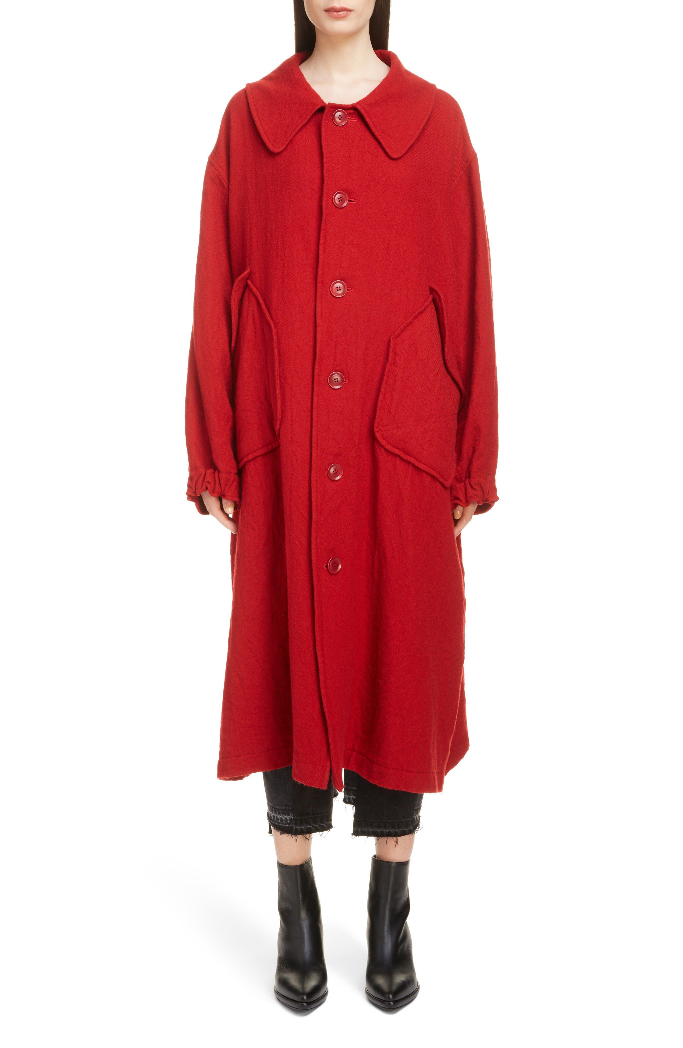 Big Pocket Wool Coat,                             Main thumbnail 1, color,                             600