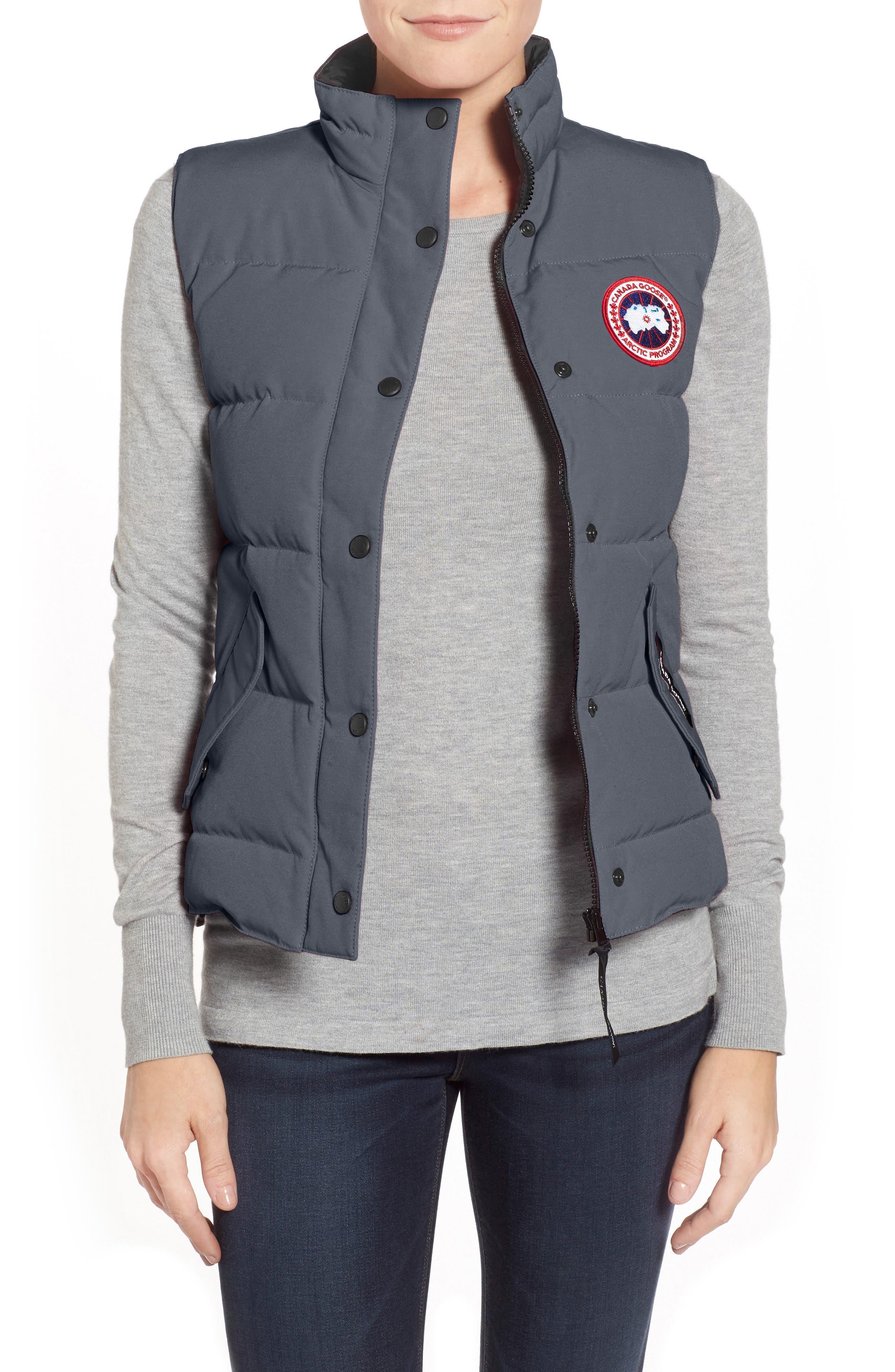 'Freestyle' Slim Fit Down Vest,                             Main thumbnail 1, color,                             GRAPHITE