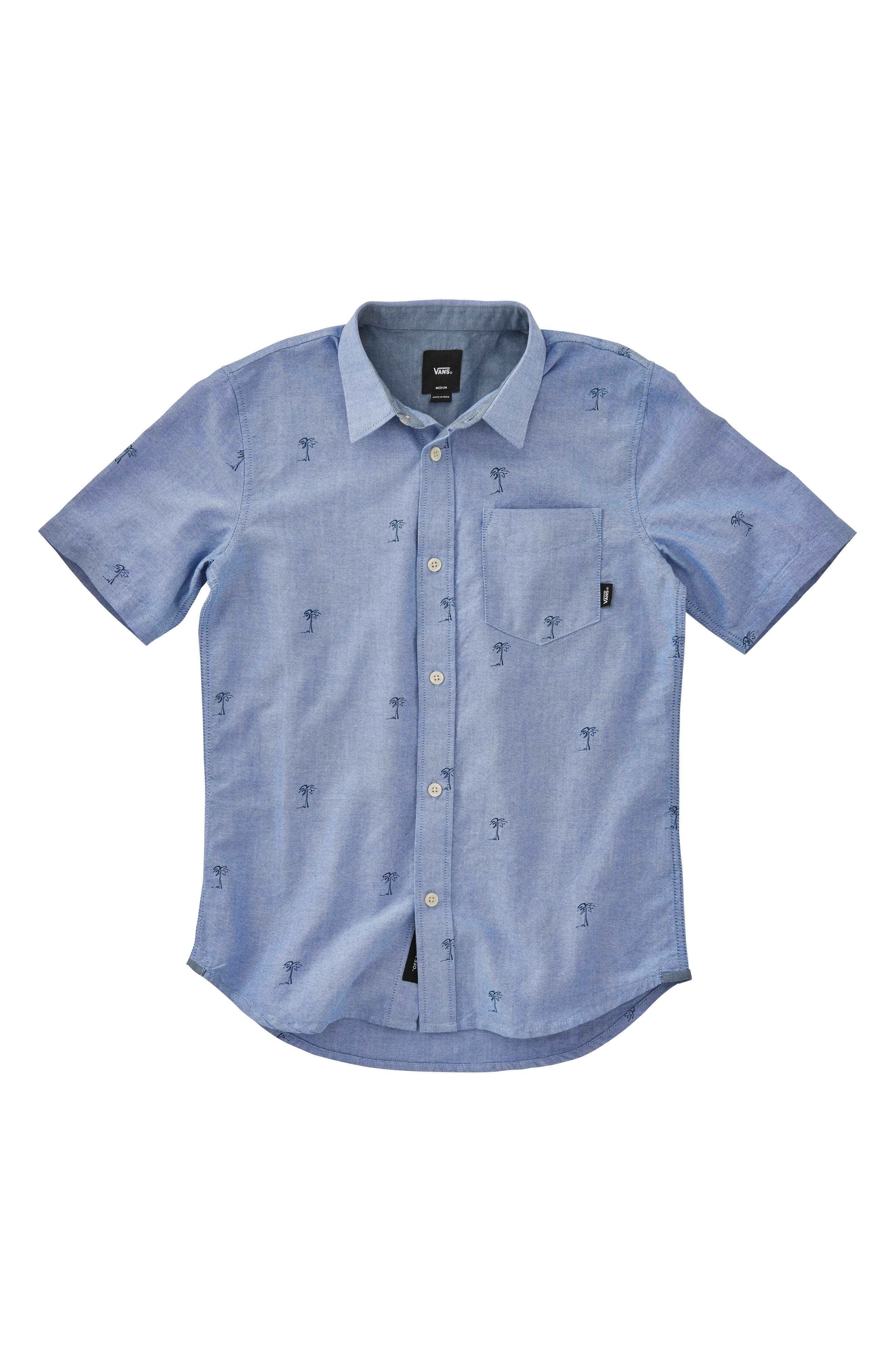 Houser Woven Shirt,                             Main thumbnail 1, color,                             MAZARINE BLUE