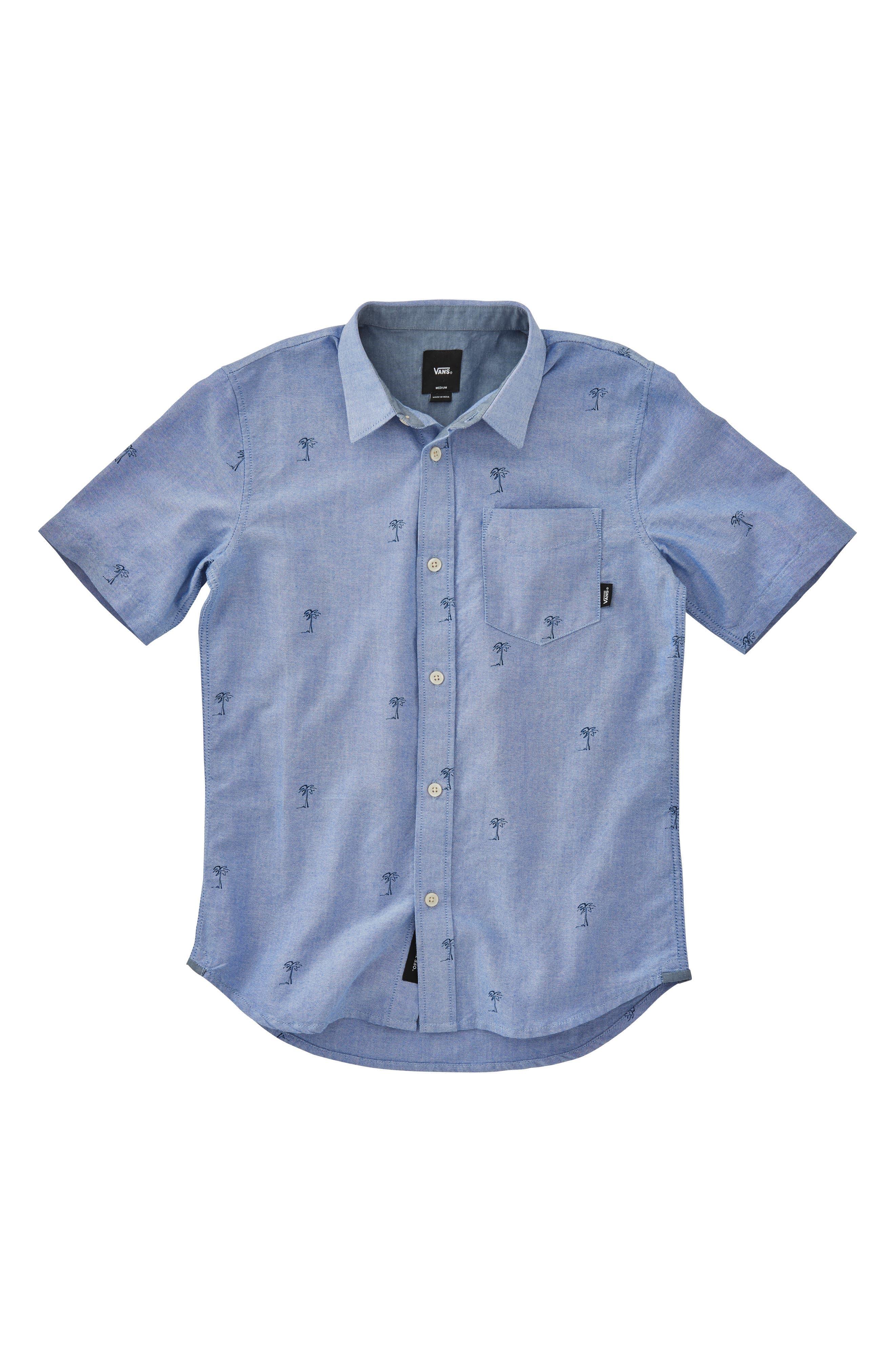 Houser Woven Shirt,                         Main,                         color, MAZARINE BLUE