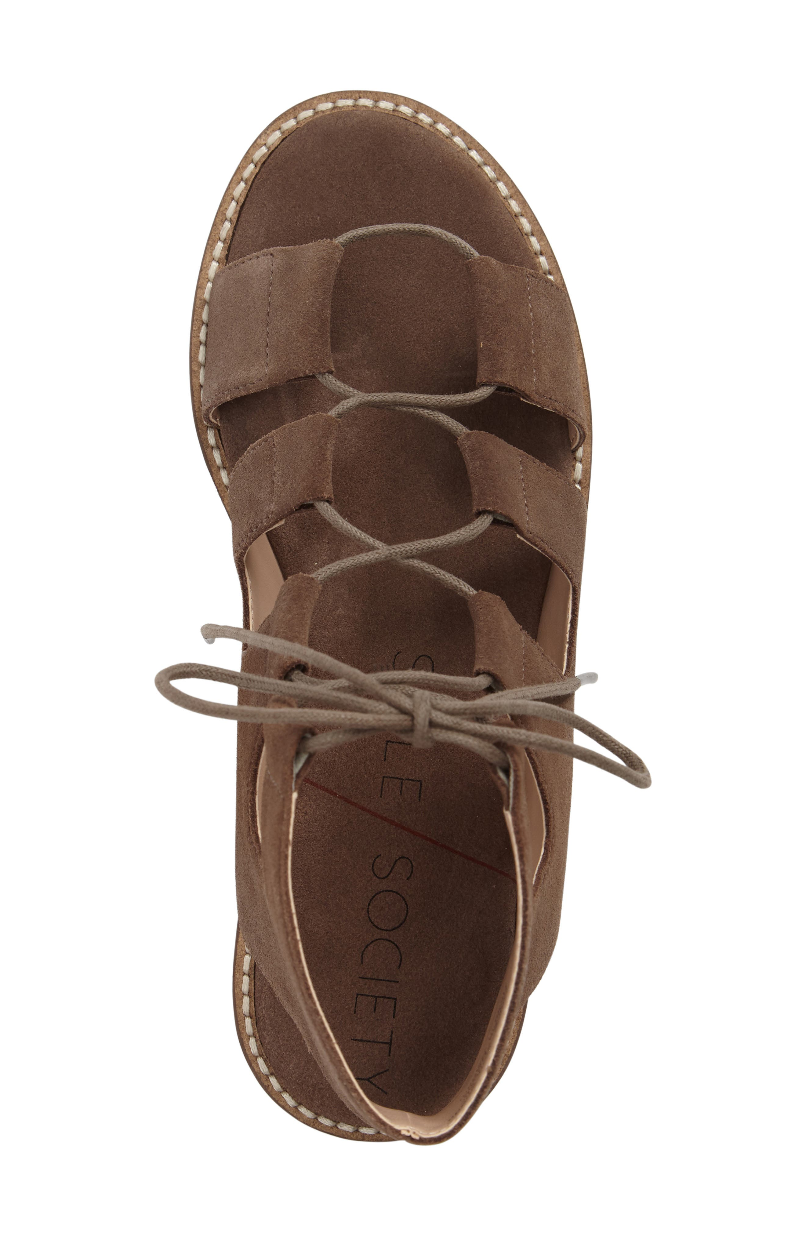 'Cady' Lace-Up Flat Sandal,                             Alternate thumbnail 17, color,