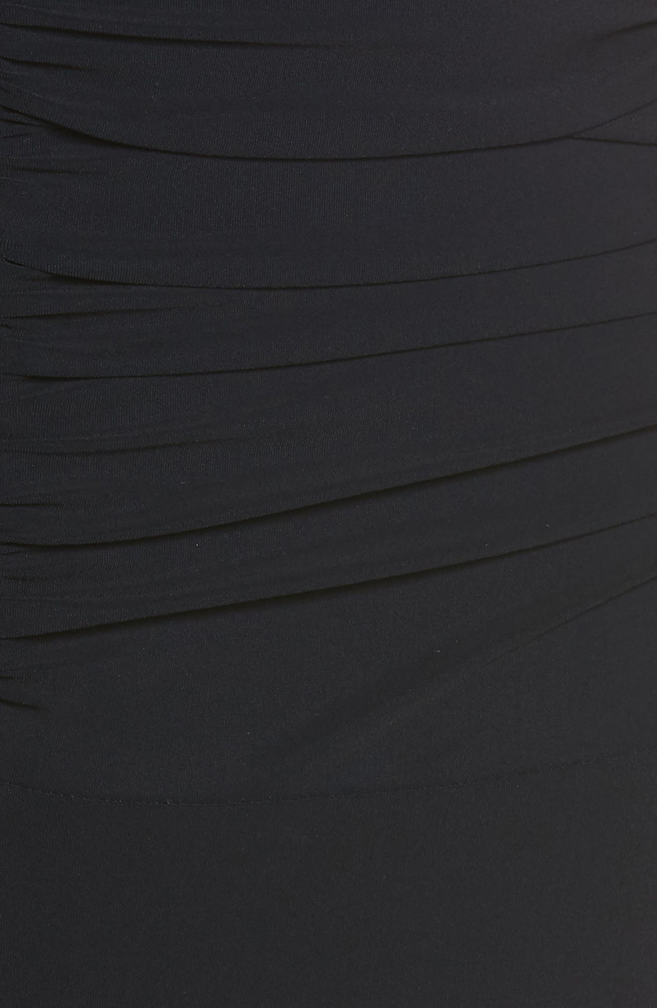 Moto D-Cup Plunge V-Neck One-Piece Swimsuit,                             Alternate thumbnail 5, color,                             BLACK