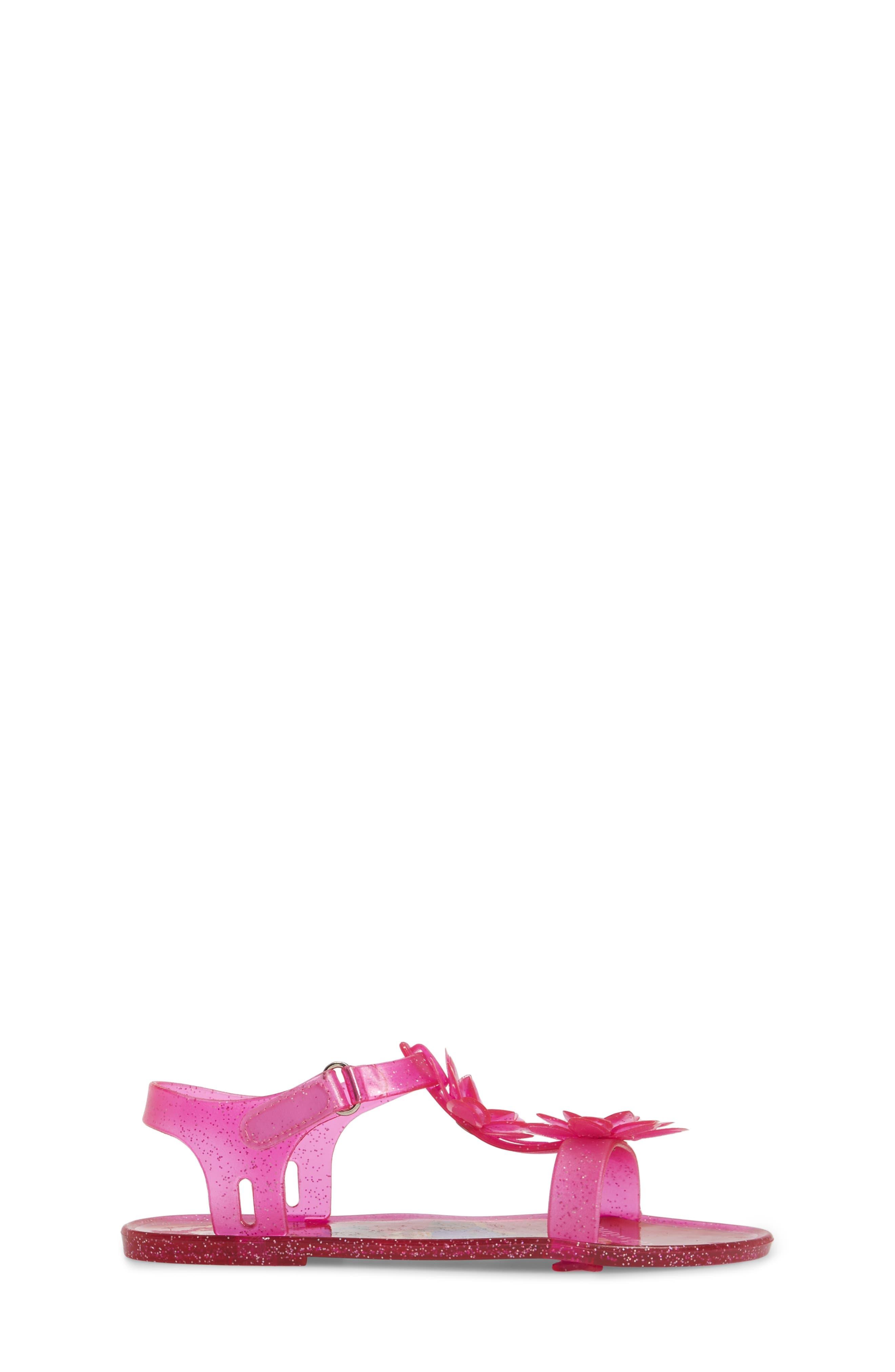 Kendall Flower Jelly Sandal,                             Alternate thumbnail 3, color,                             653
