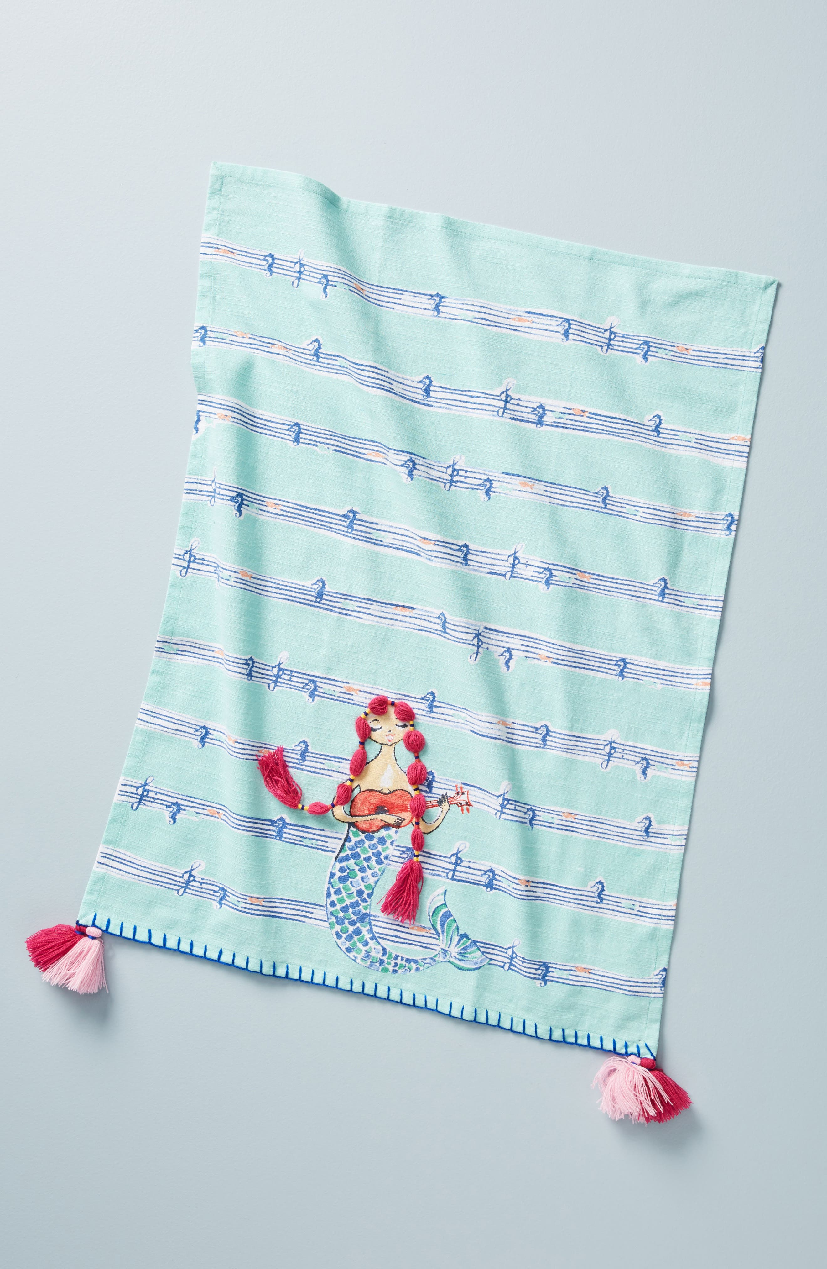 Mermaid Dishtowel,                         Main,                         color, 400