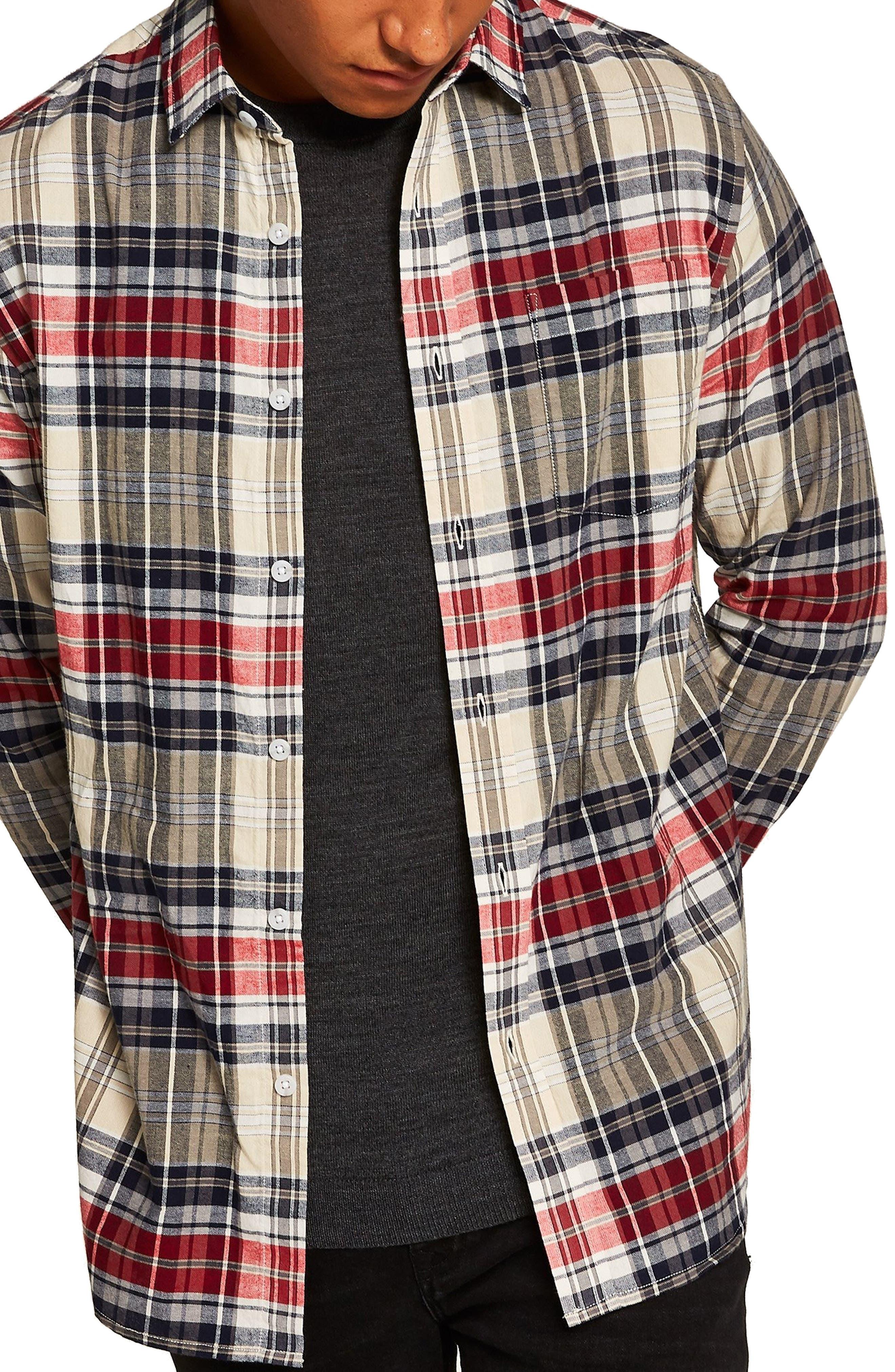 Check Shirt,                         Main,                         color, STONE