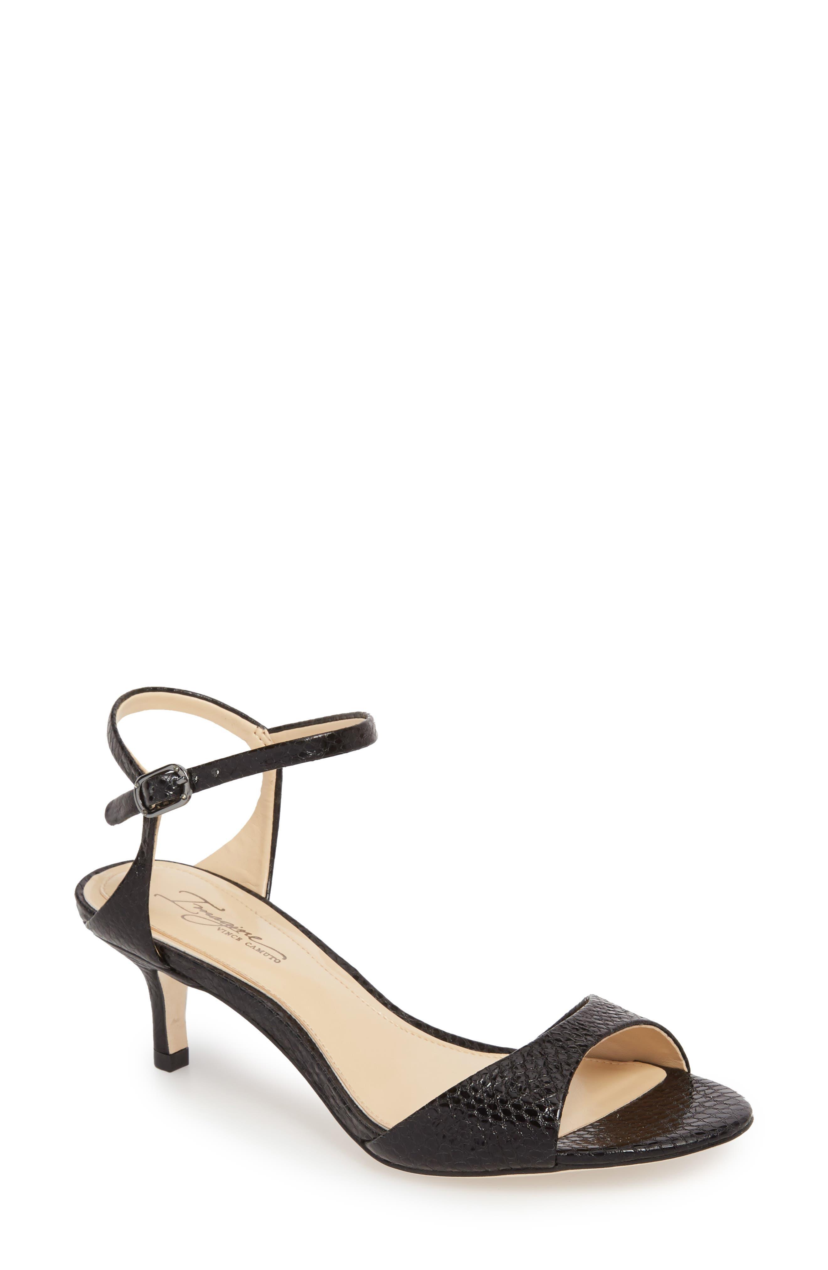 Kymberly Sandal,                         Main,                         color, BLACK LEATHER