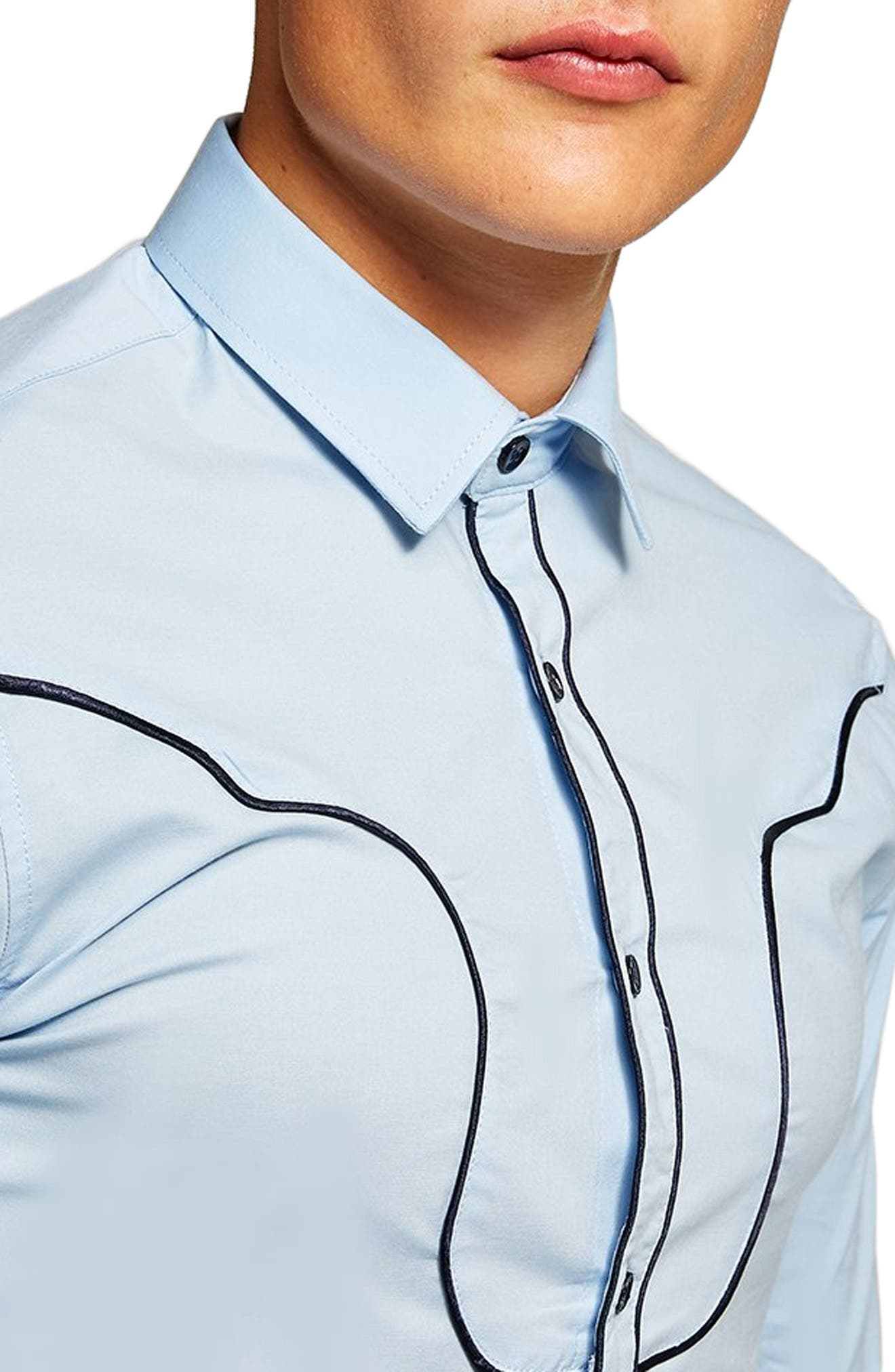 Classic Fit Western Sport Shirt,                             Alternate thumbnail 2, color,                             450