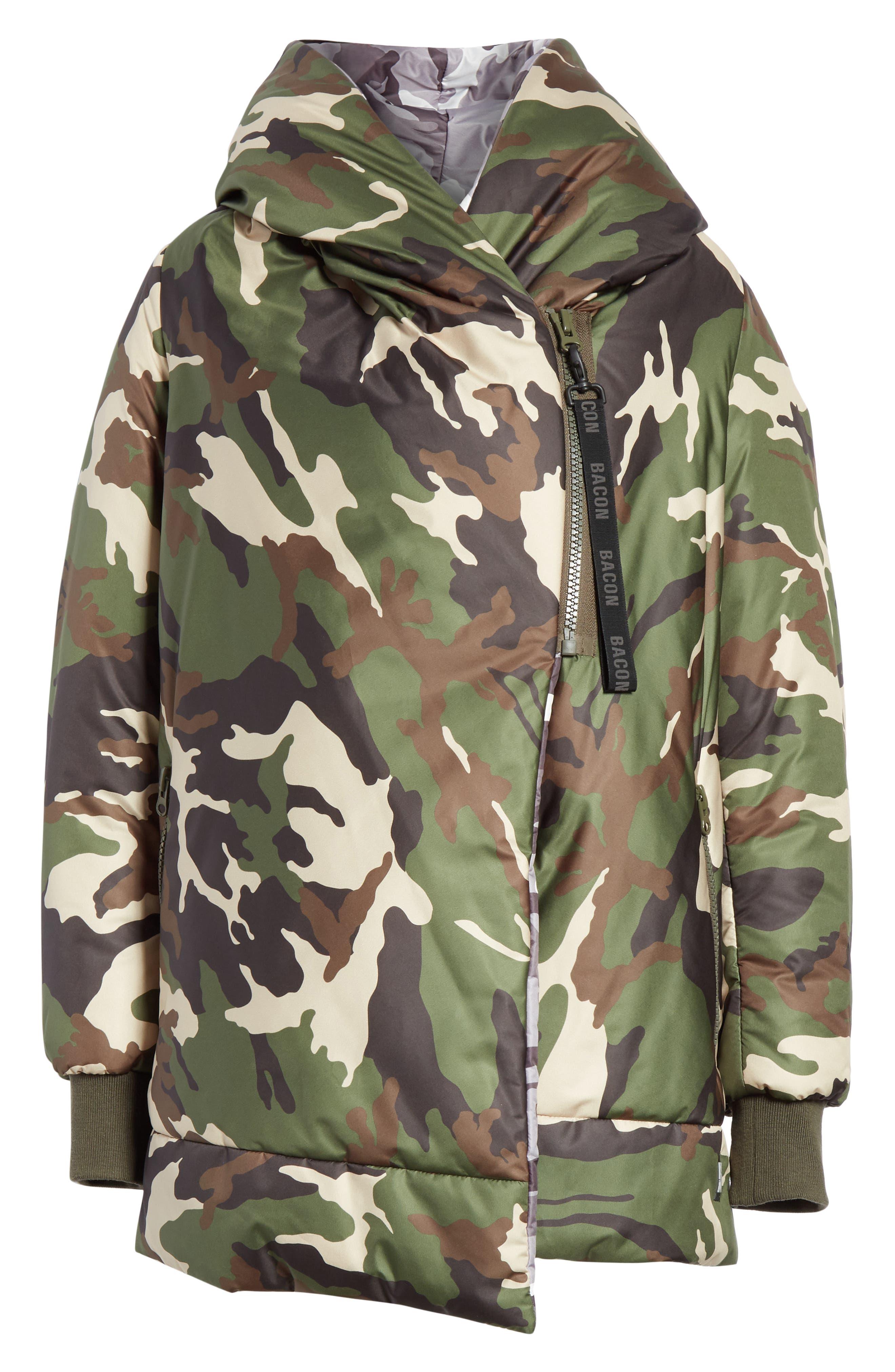 BACON,                             Big Blanket 78 Camo Puffer Coat,                             Alternate thumbnail 5, color,                             300