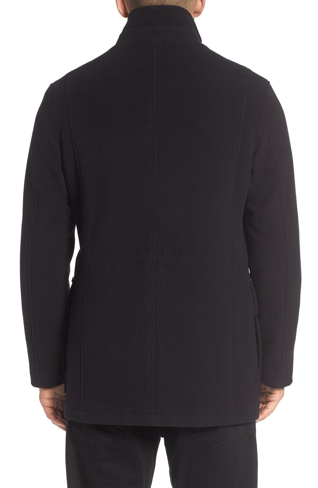 Wool Blend Car Coat,                             Alternate thumbnail 3, color,