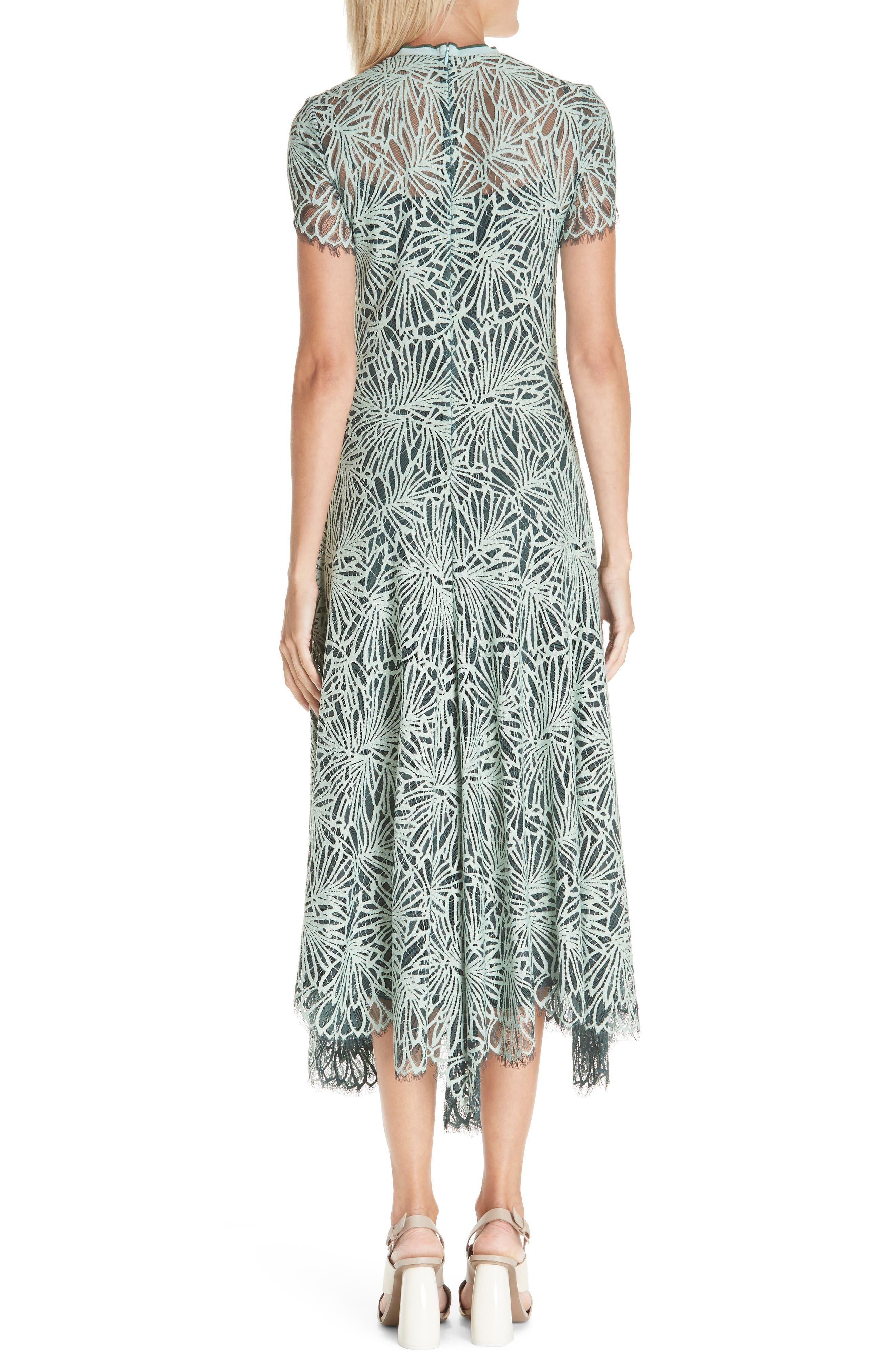 Stretch Lace Dress,                             Alternate thumbnail 2, color,                             SPEARMINT