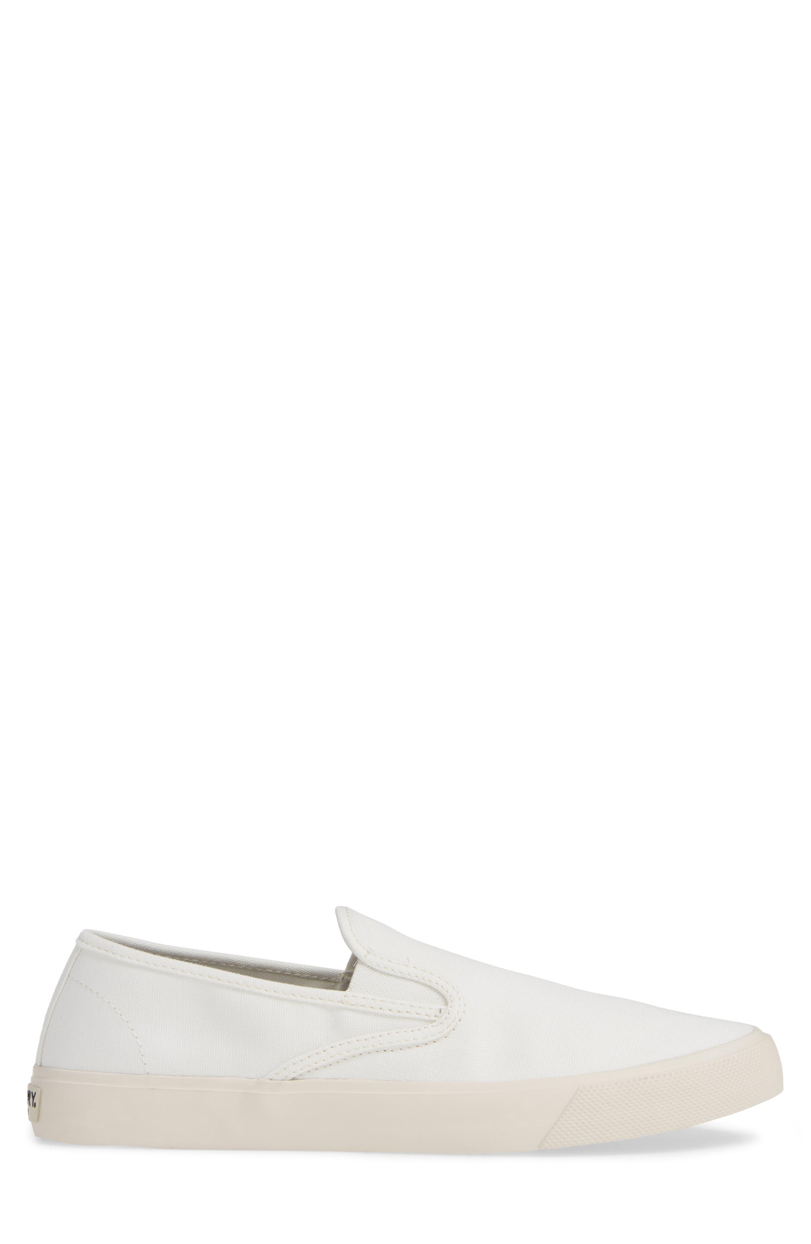 Striper II Slip-On Sneaker,                             Alternate thumbnail 3, color,                             WHITE