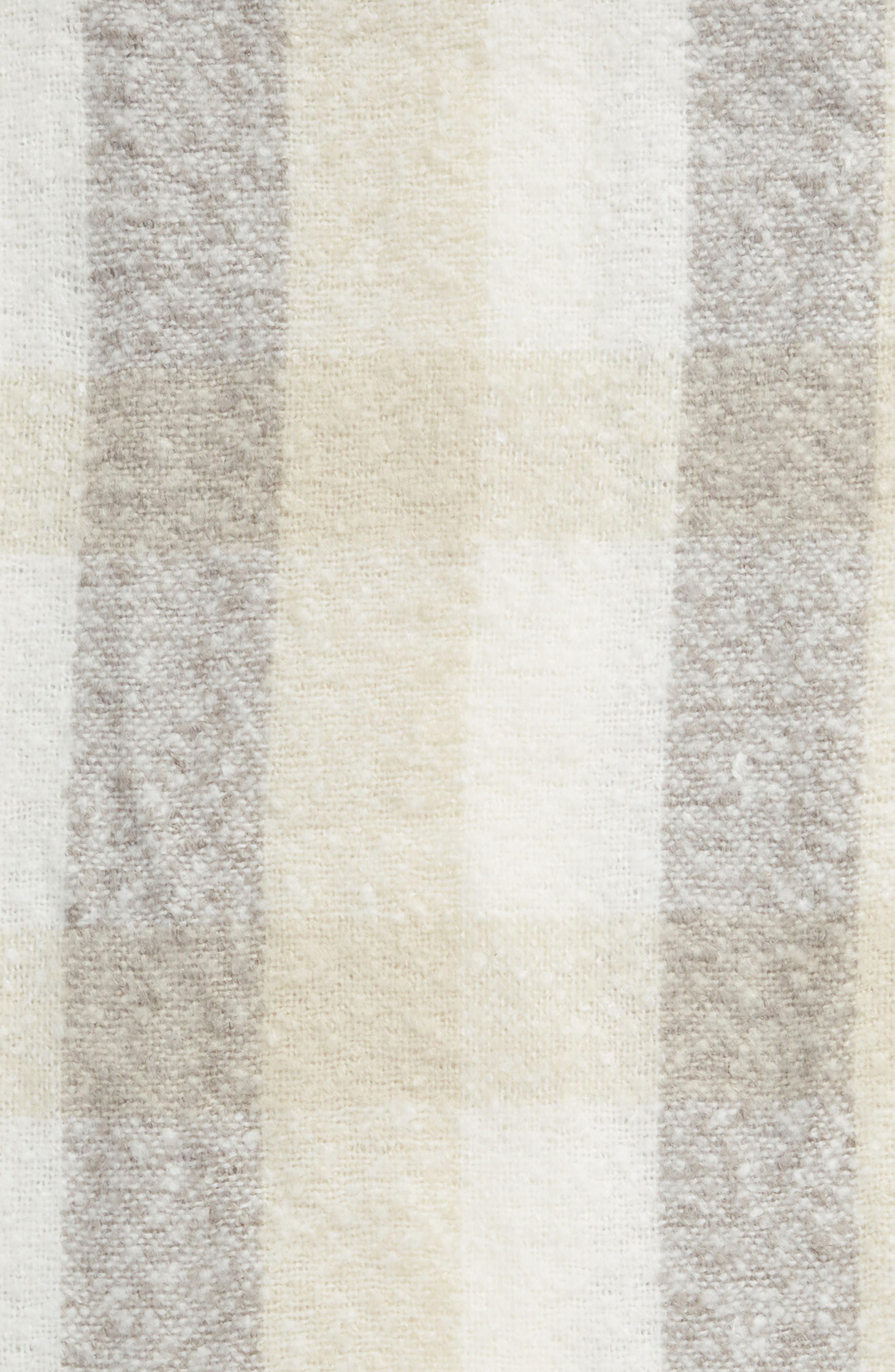 Faux Fur Throw,                             Alternate thumbnail 2, color,                             BEIGE OATMEAL MULTI